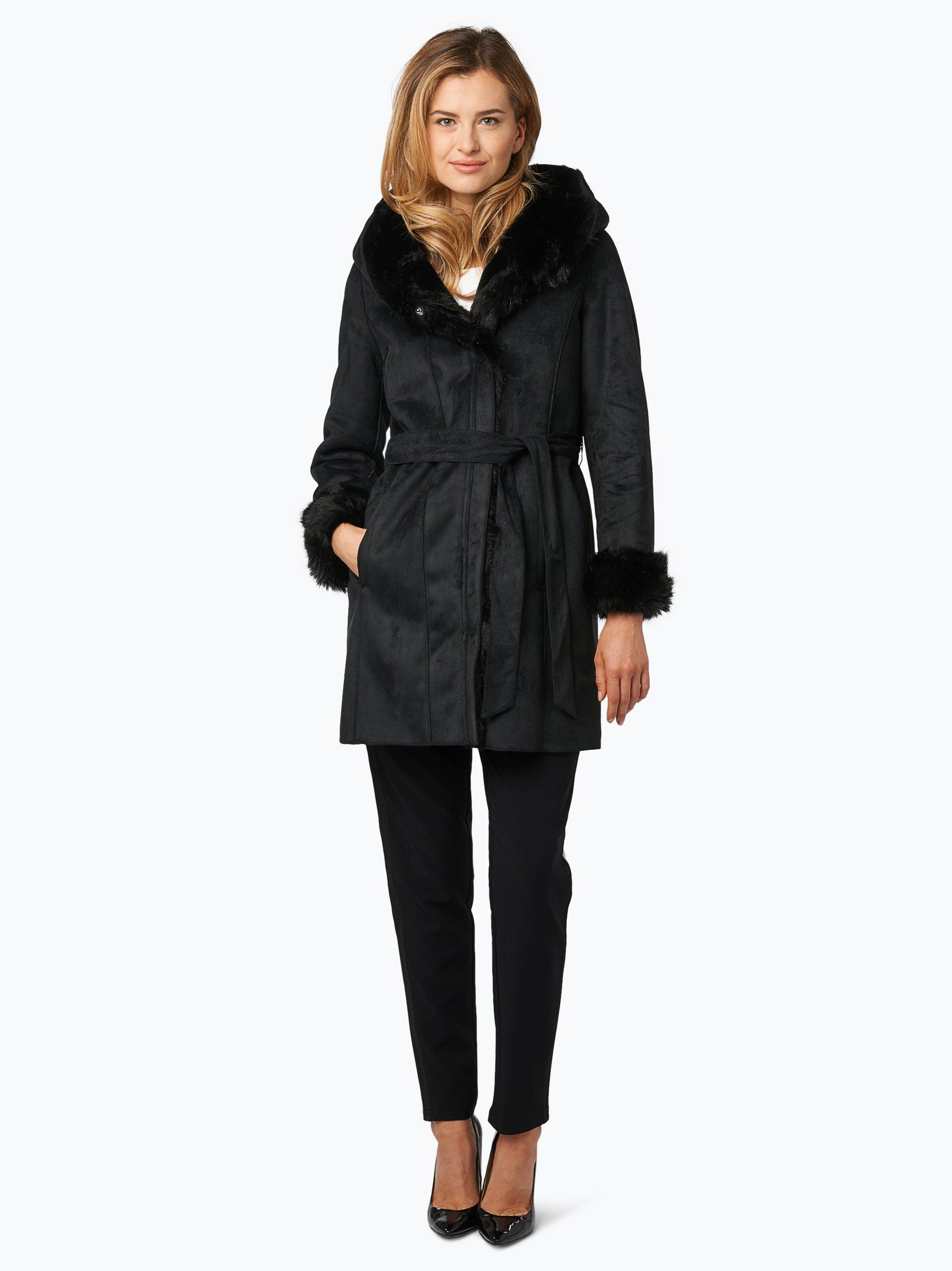 marc cain additions damen mantel schwarz uni online kaufen. Black Bedroom Furniture Sets. Home Design Ideas