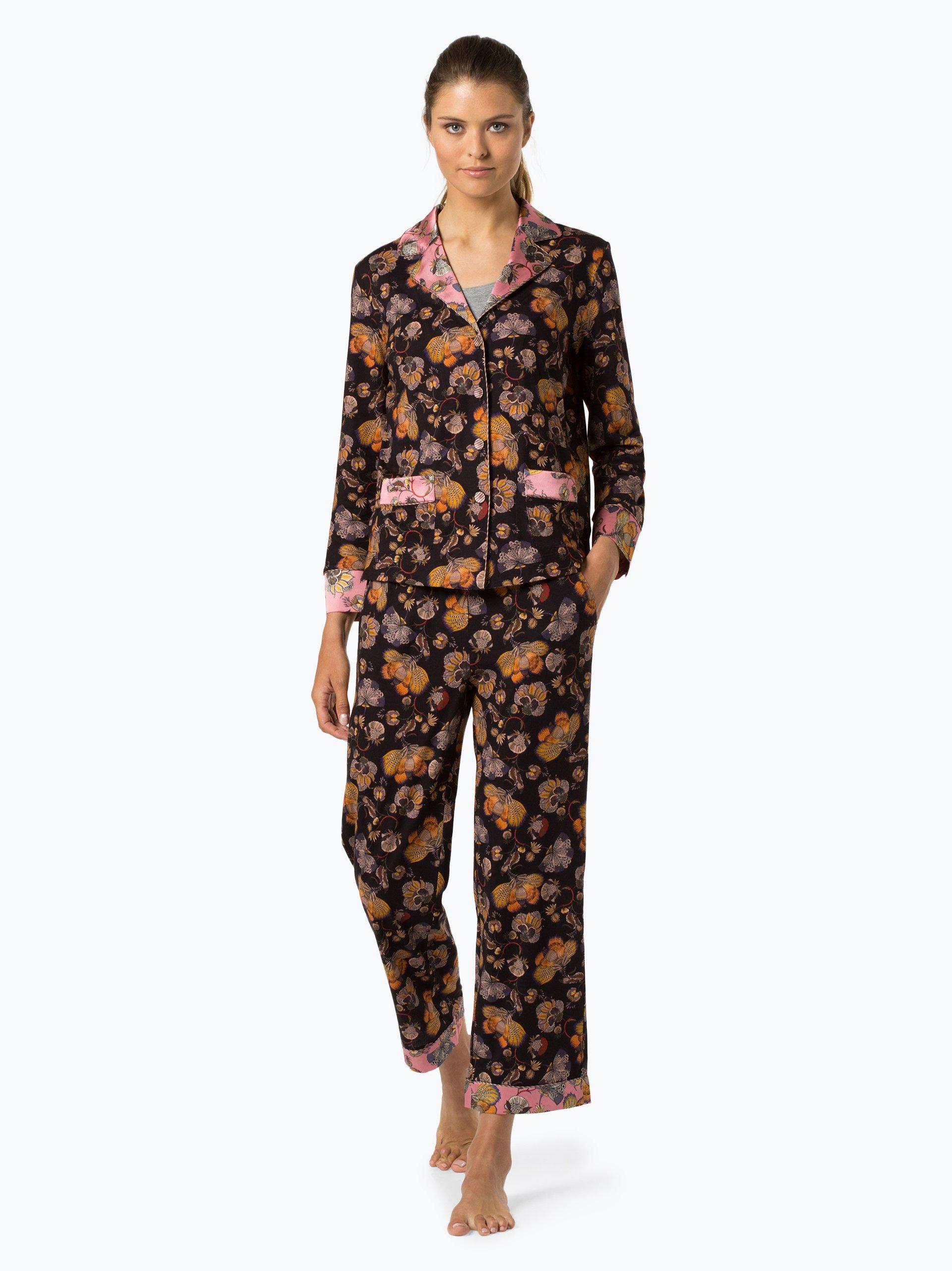 Marc Cain Additions Damska koszula od piżamy z dodatkiem jedwabiu