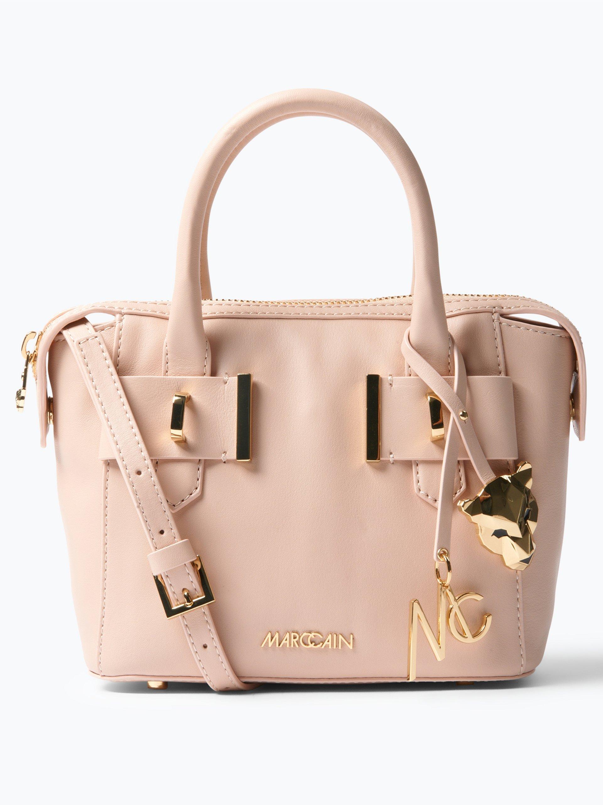 marc cain bags shoes damen handtasche aus leder beige uni online kaufen vangraaf com. Black Bedroom Furniture Sets. Home Design Ideas