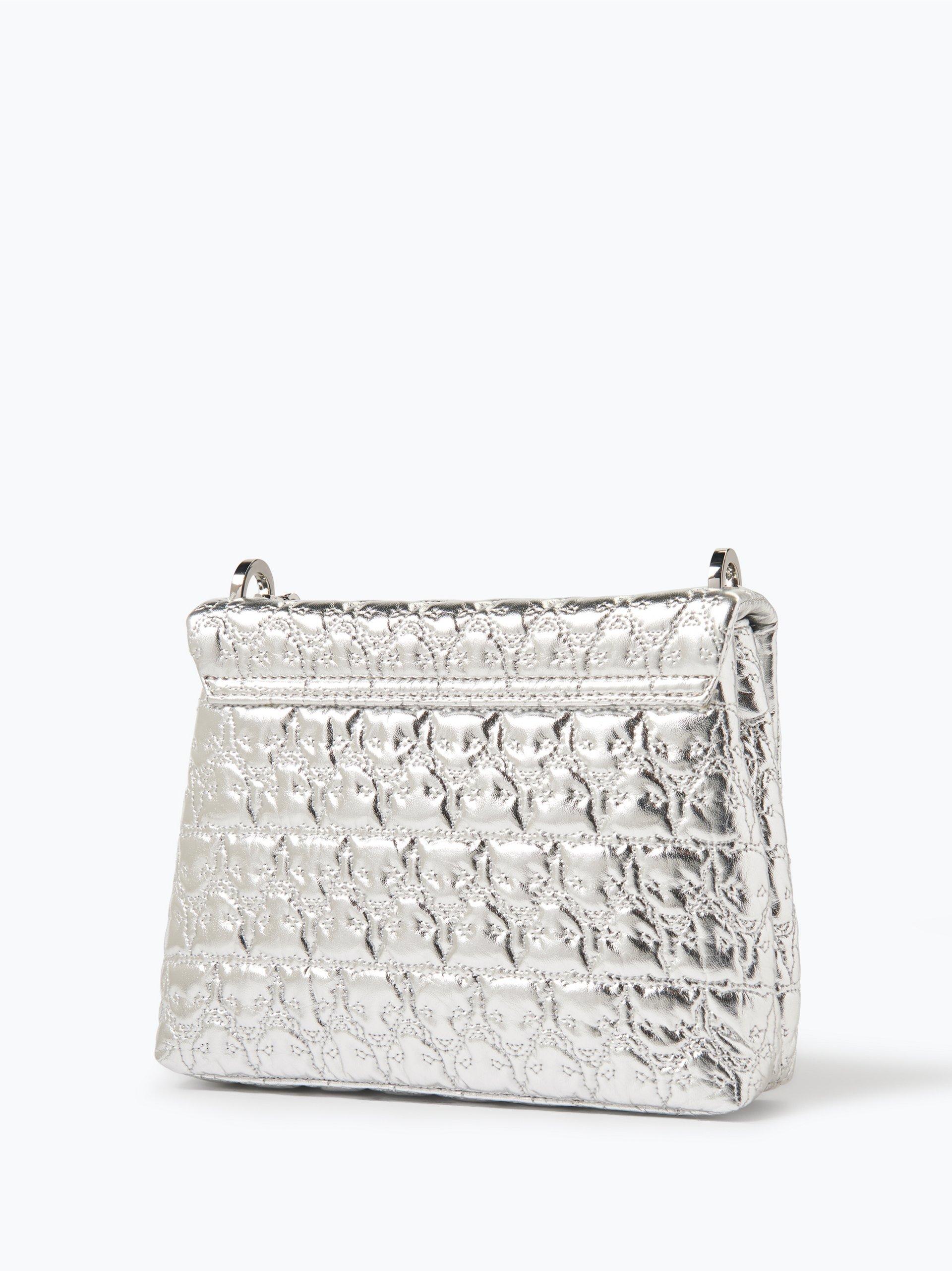 marc cain bags shoes damen handtasche in leder optik silber uni online kaufen vangraaf com. Black Bedroom Furniture Sets. Home Design Ideas