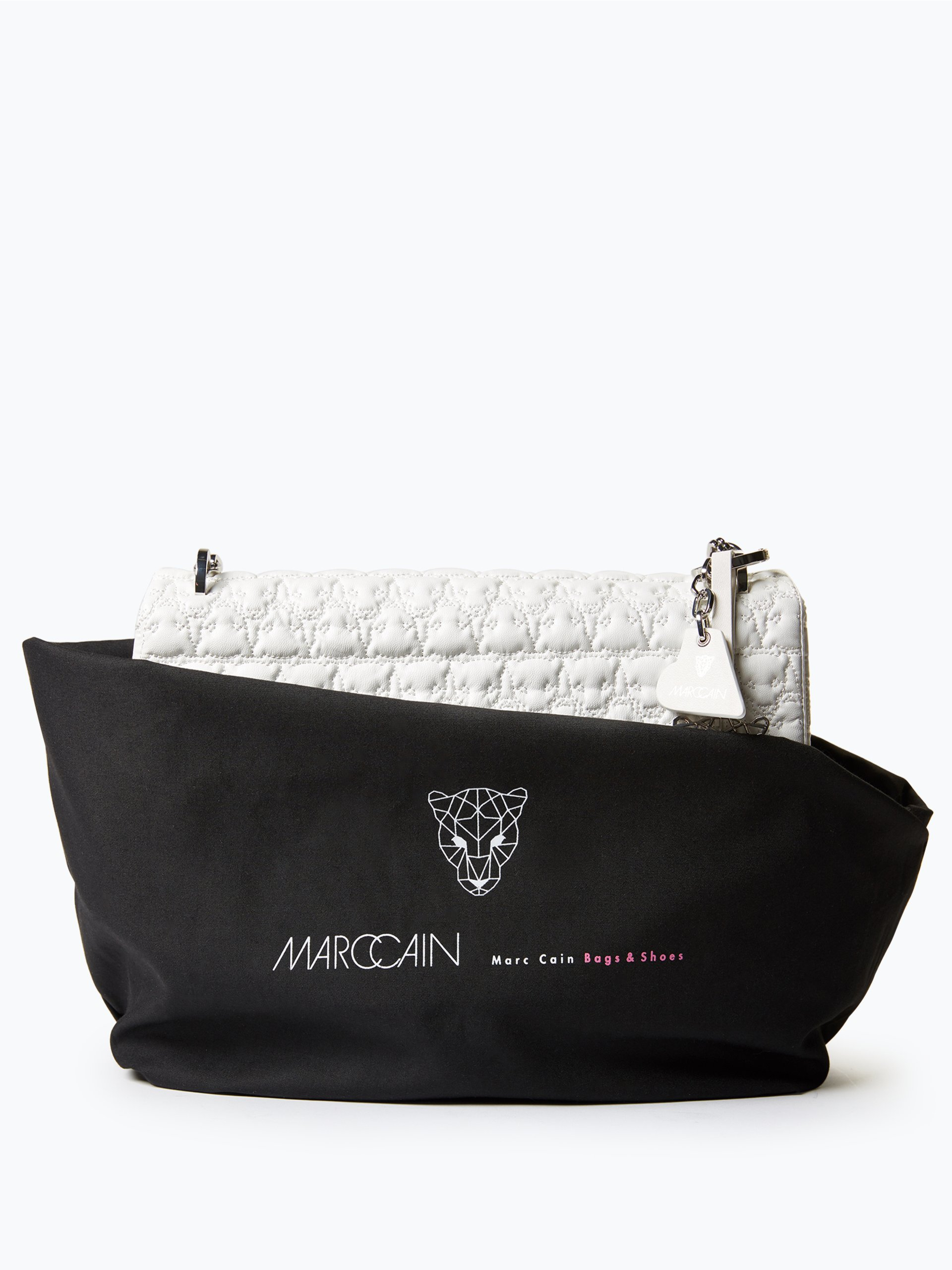 marc cain bags shoes damen handtasche mit leder anteil wei uni online kaufen peek und. Black Bedroom Furniture Sets. Home Design Ideas
