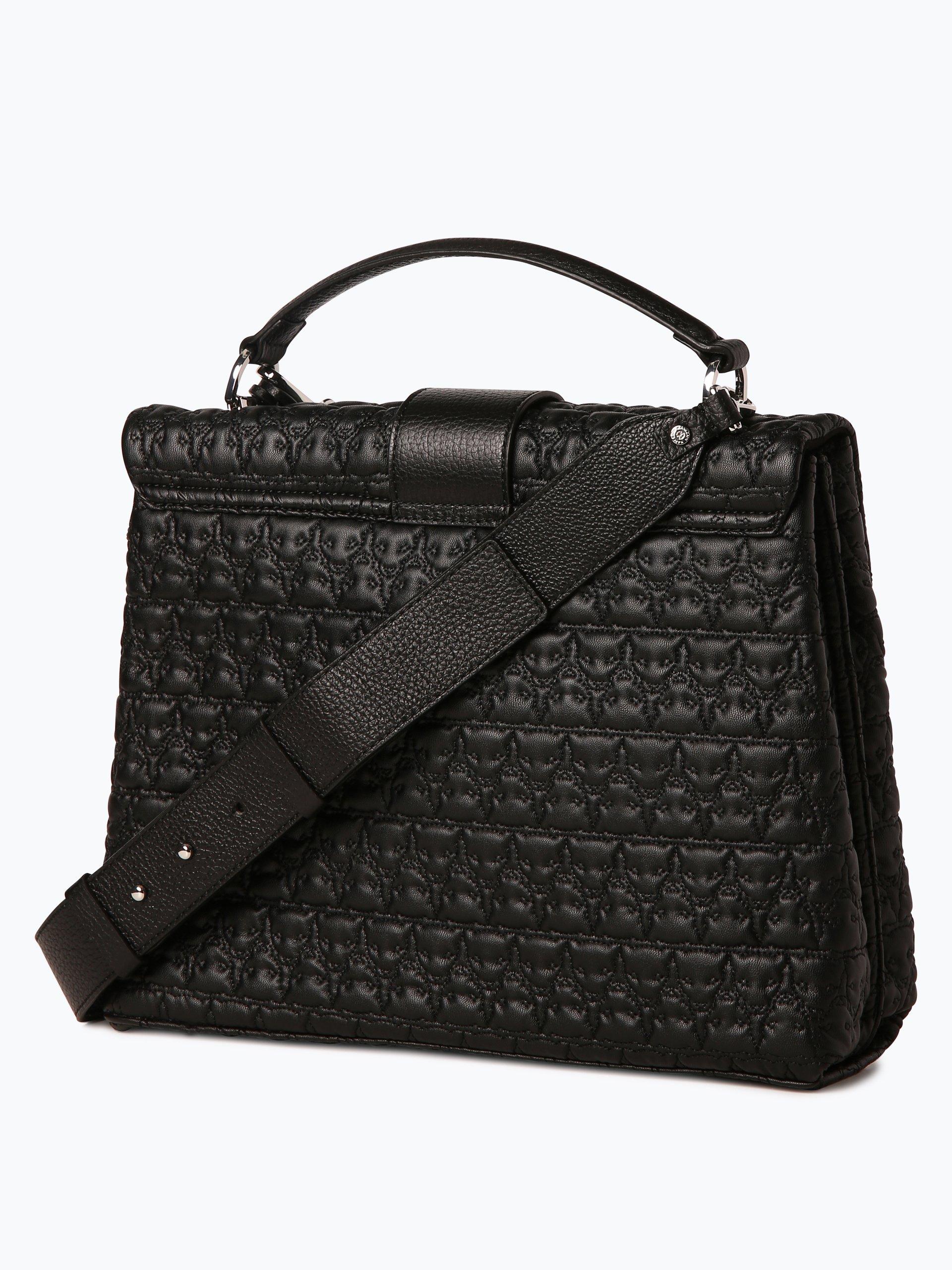 marc cain bags shoes damen handtasche mit leder anteil schwarz uni online kaufen peek und. Black Bedroom Furniture Sets. Home Design Ideas