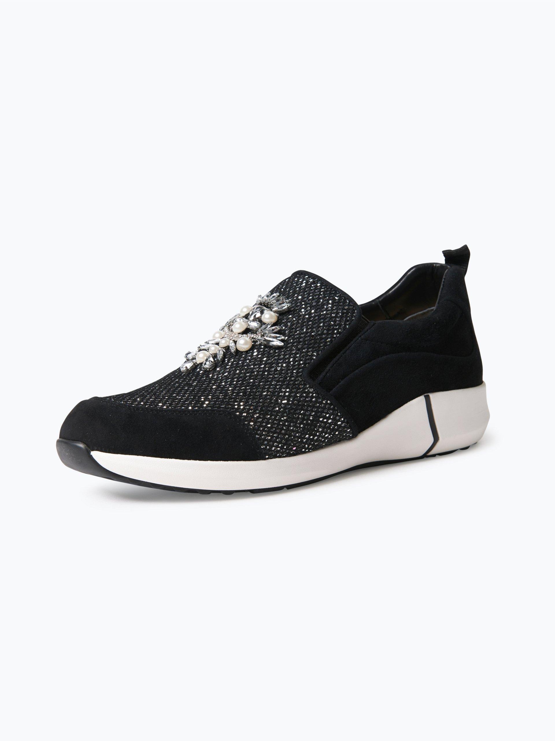 marc cain bags shoes damen sneaker aus leder schwarz gemustert online kaufen vangraaf com. Black Bedroom Furniture Sets. Home Design Ideas