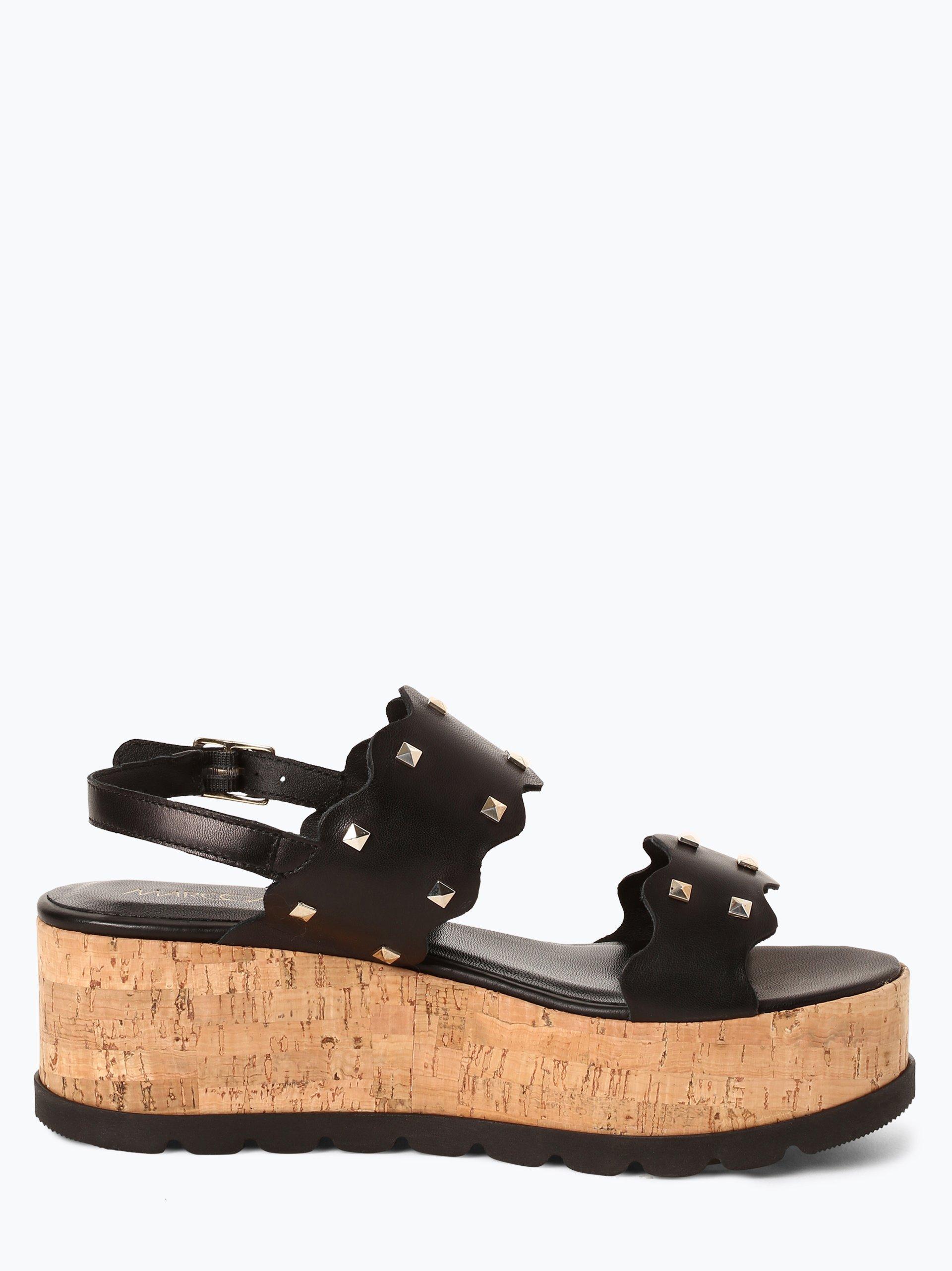 Marc Cain Bags & Shoes Damskie skórzane sandały na obcasie