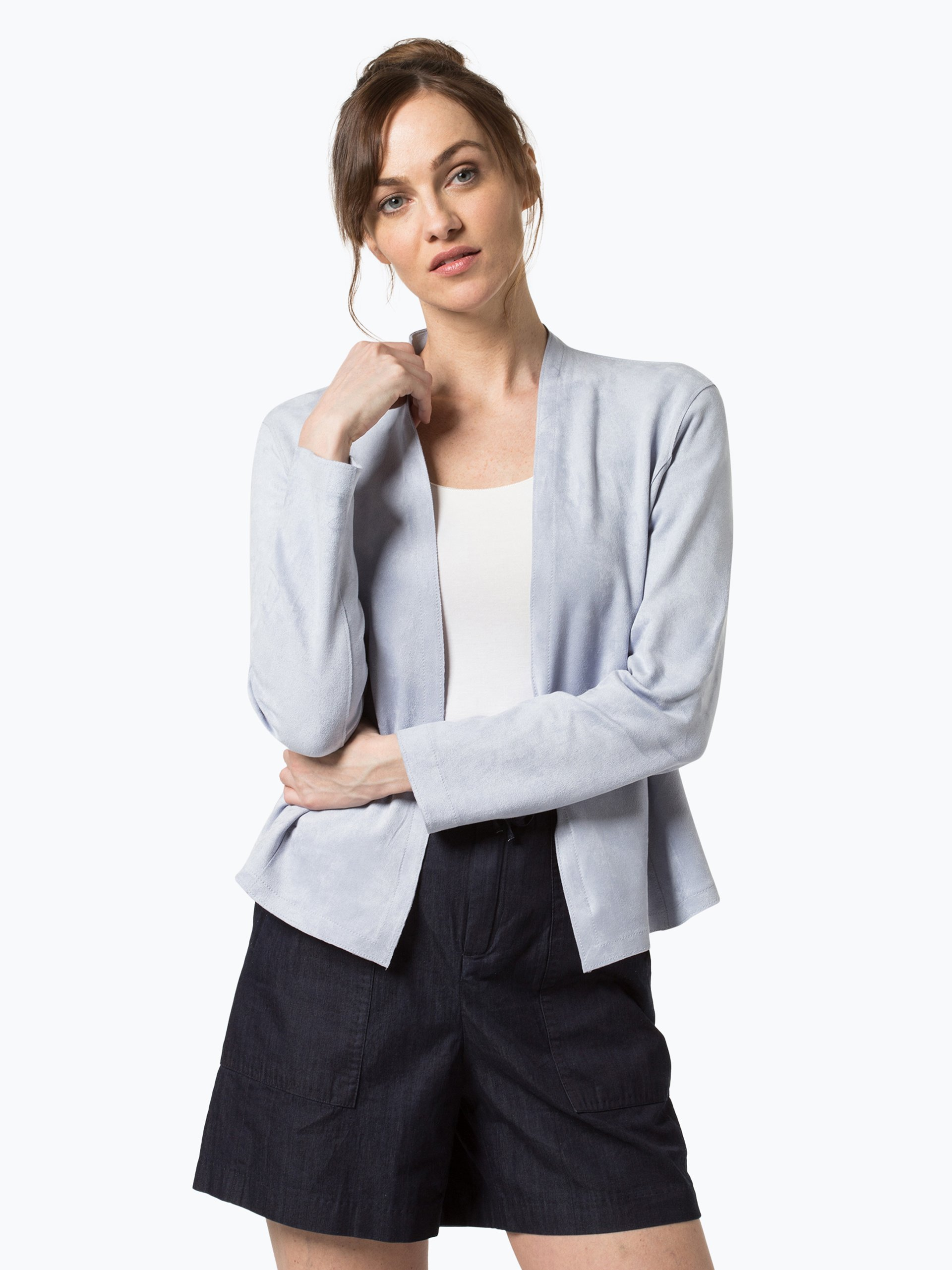 marc cain collections damen blazer hellblau uni online kaufen peek und cloppenburg de. Black Bedroom Furniture Sets. Home Design Ideas