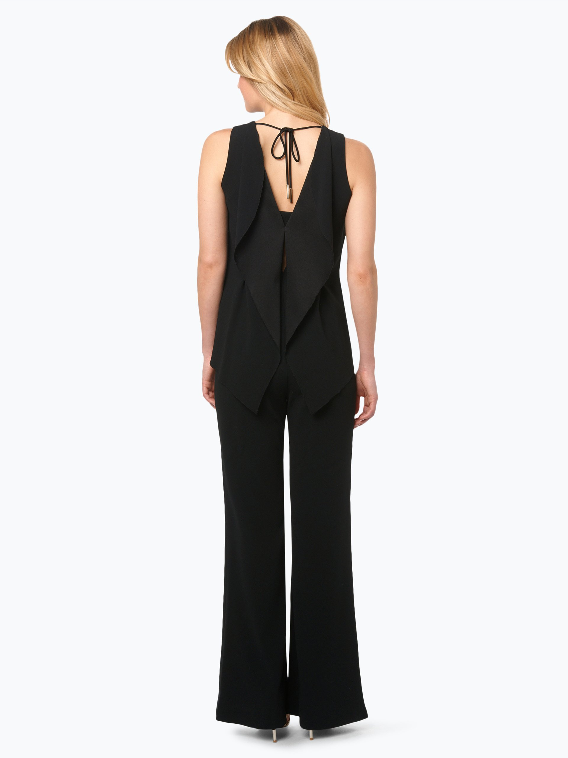 marc cain collections damen jumpsuit mit seiden anteil schwarz uni online kaufen vangraaf com. Black Bedroom Furniture Sets. Home Design Ideas