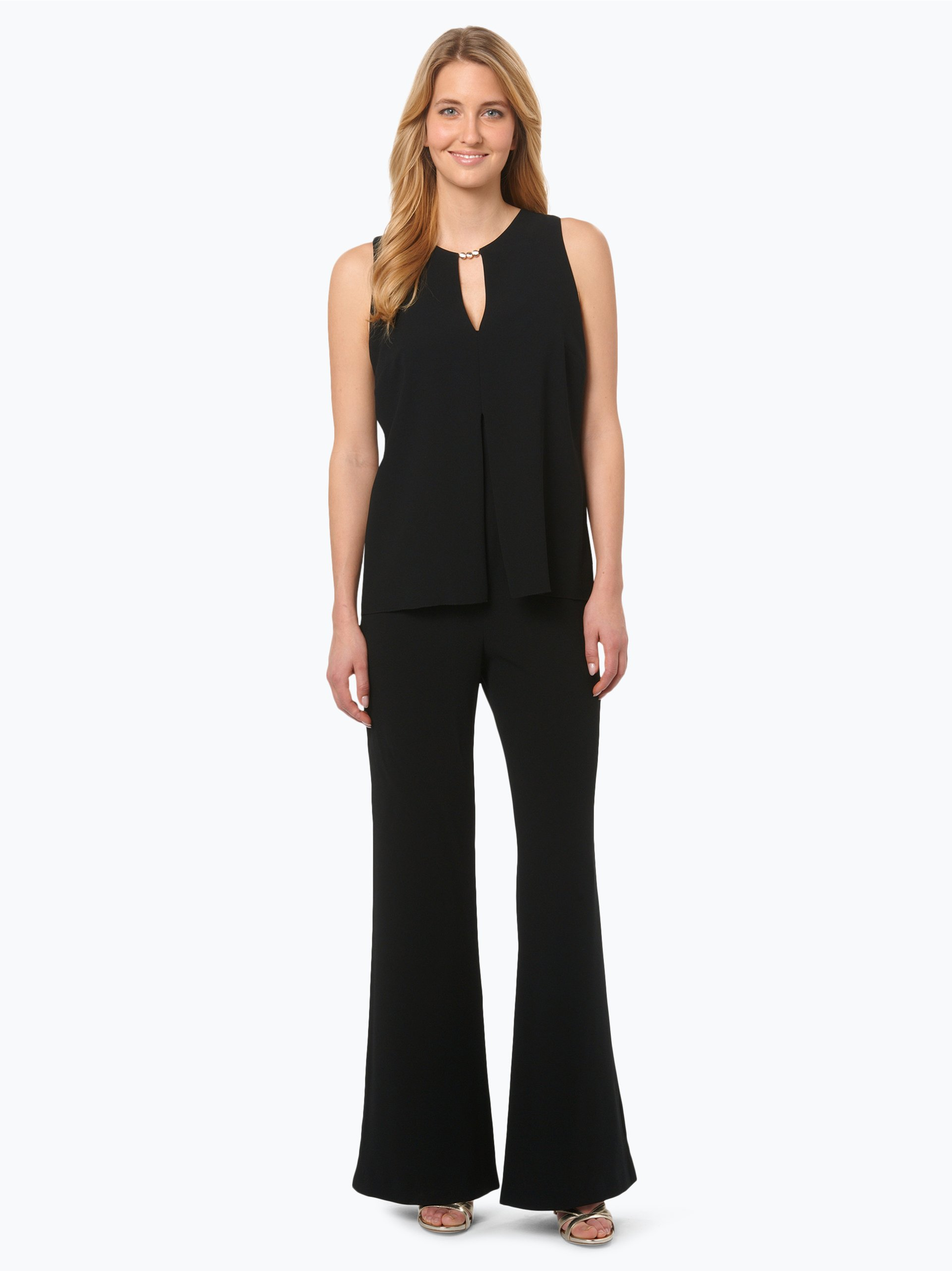 marc cain collections damen jumpsuit mit seiden anteil schwarz uni online kaufen peek und. Black Bedroom Furniture Sets. Home Design Ideas