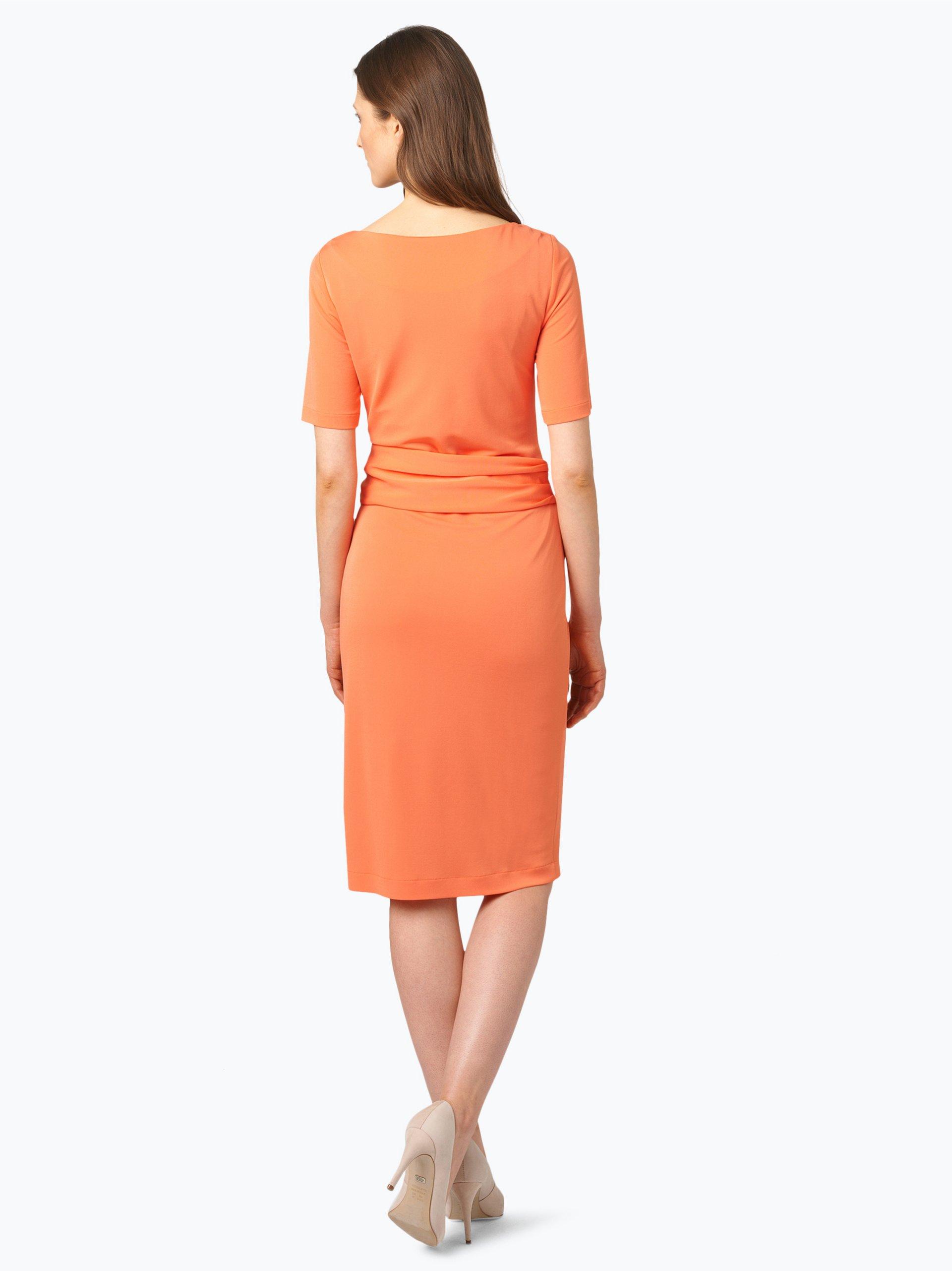 marc cain collections damen kleid orange uni online kaufen vangraaf com. Black Bedroom Furniture Sets. Home Design Ideas