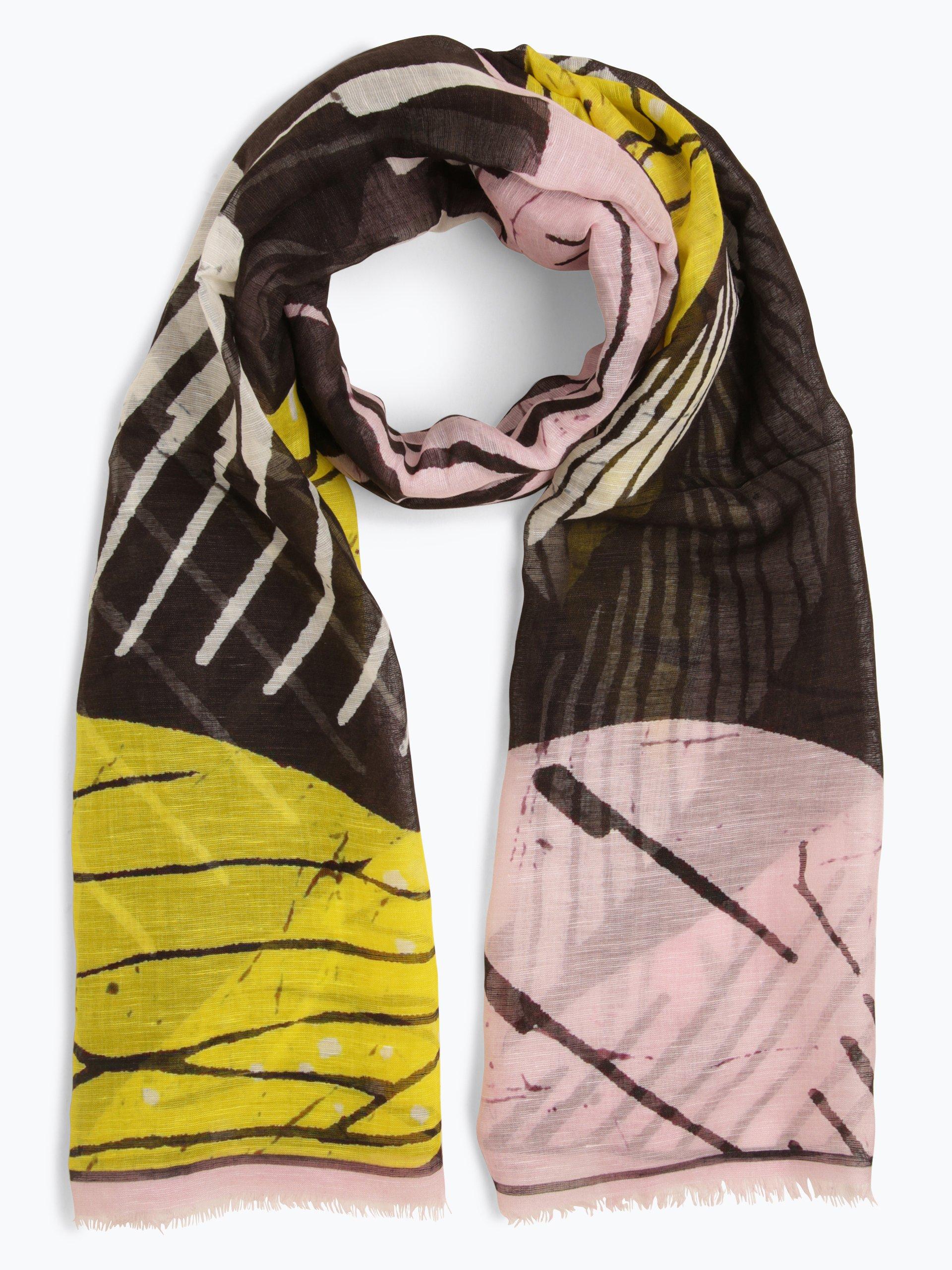 Marc Cain Collections Damen Schal mit Leinen- und Seiden-Anteil