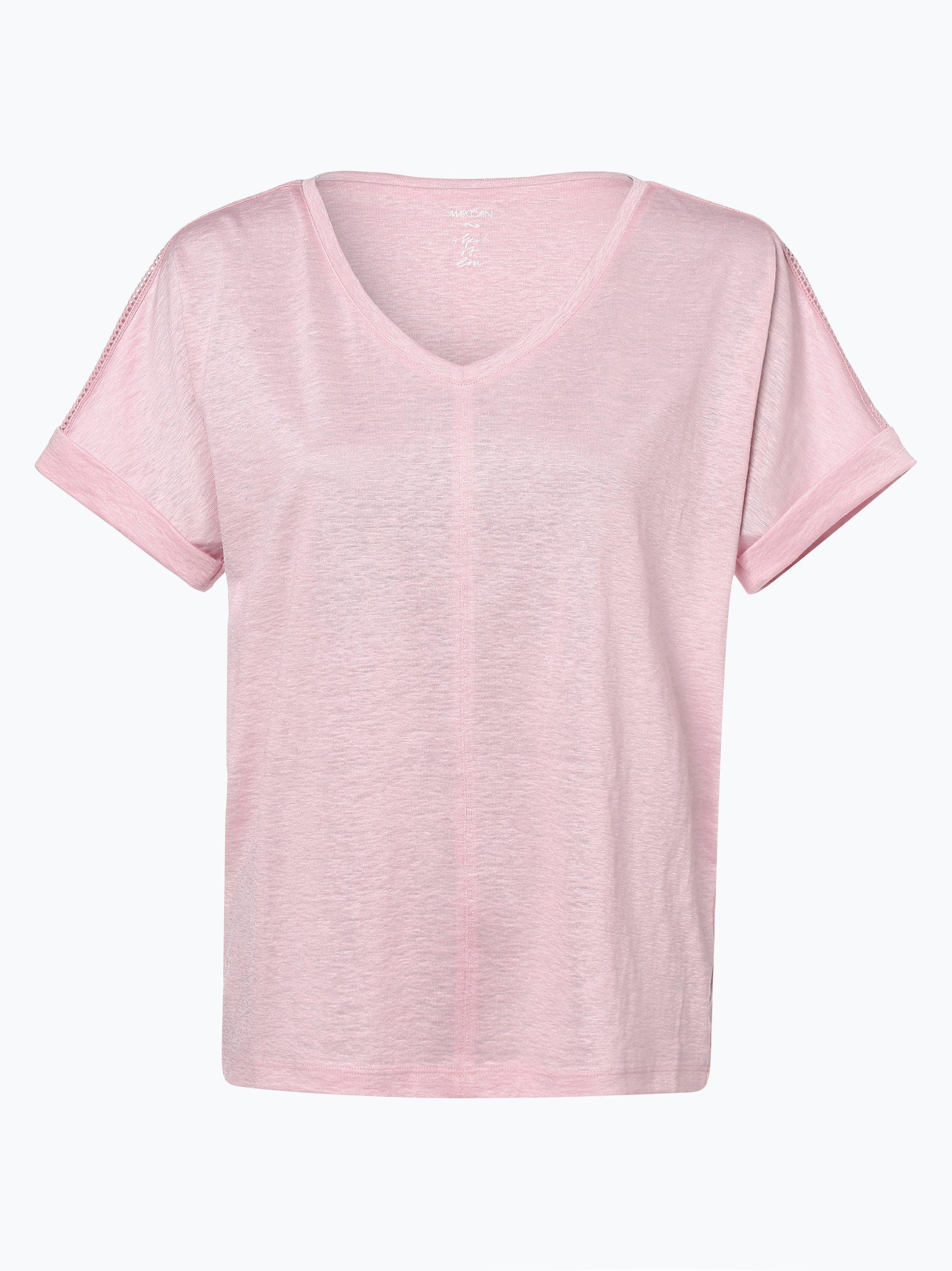 Marc Cain Collections T-shirt damski z dodatkiem lnu