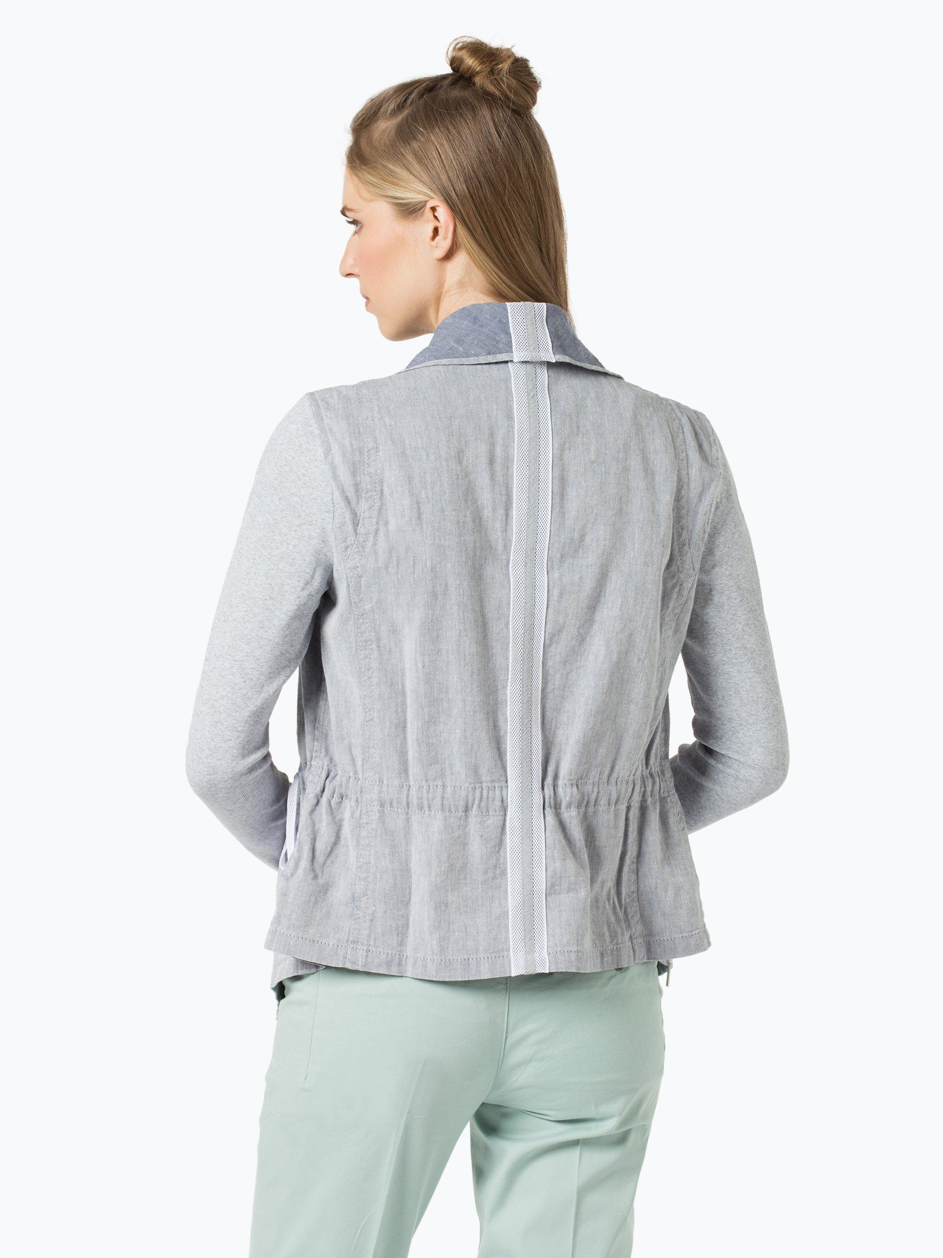 marc cain sports damen blazer mit leinen anteil blau. Black Bedroom Furniture Sets. Home Design Ideas