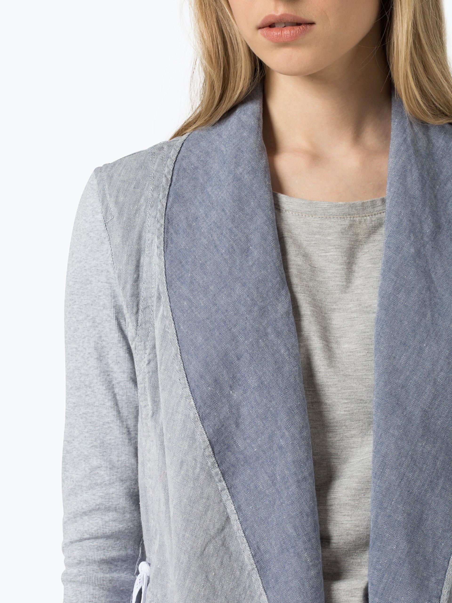 marc cain sports damen blazer mit leinen anteil blau hellblau uni online kaufen vangraaf com. Black Bedroom Furniture Sets. Home Design Ideas