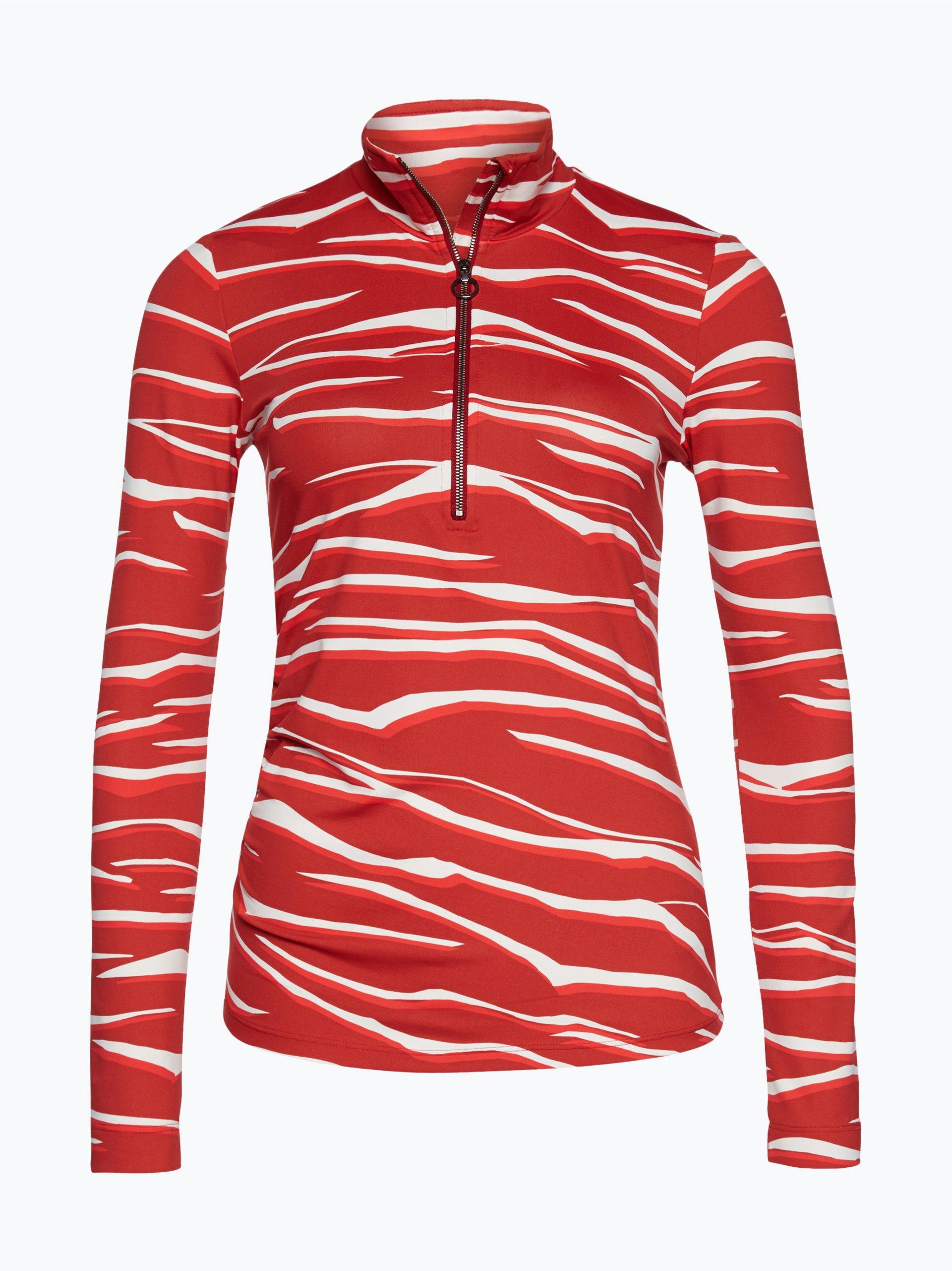 marc cain sports damen langarmshirt rot gemustert online kaufen peek und cloppenburg de. Black Bedroom Furniture Sets. Home Design Ideas
