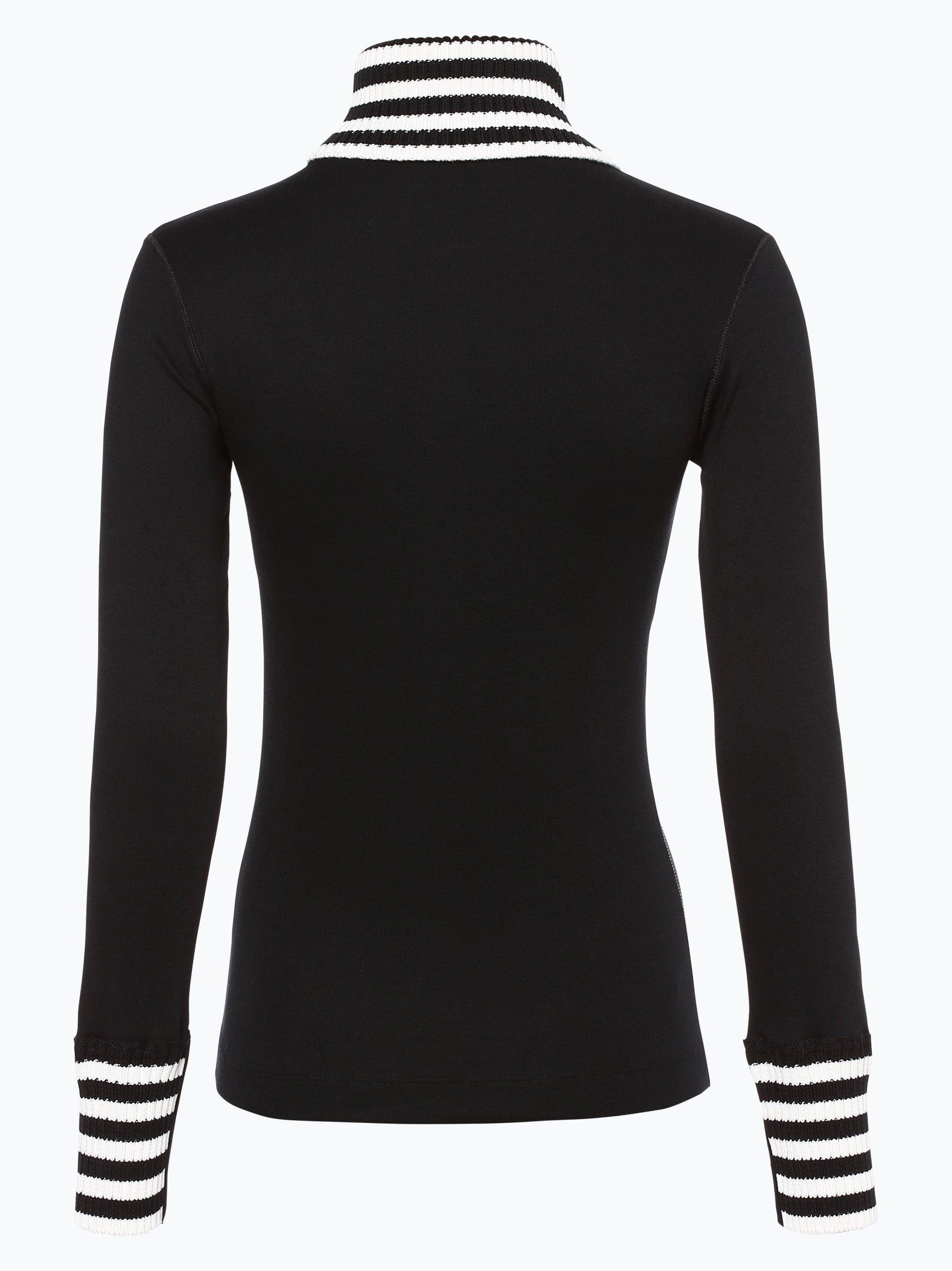 marc cain sports damen langarmshirt schwarz gestreift online kaufen vangraaf com. Black Bedroom Furniture Sets. Home Design Ideas