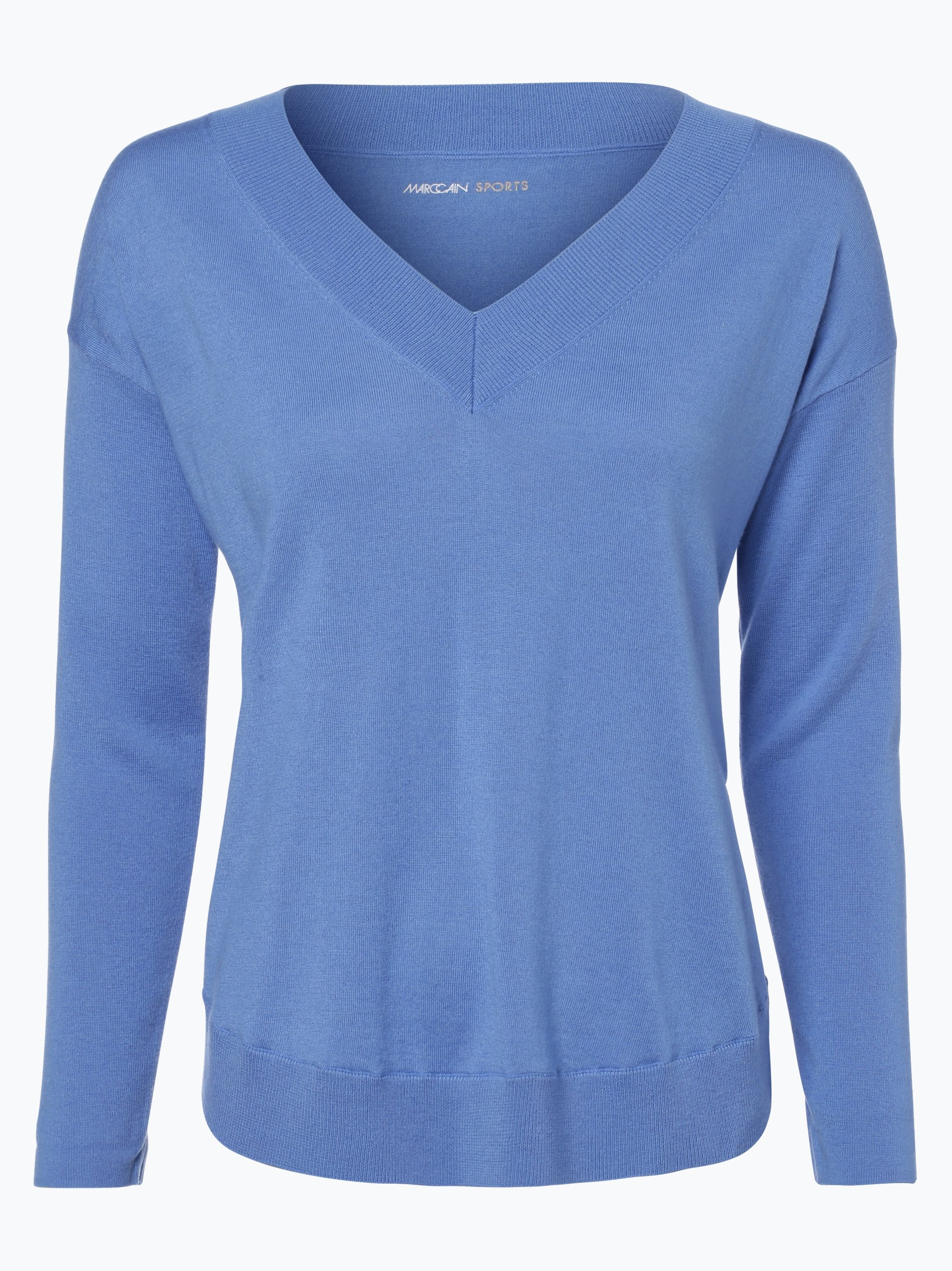 marc cain sports damen pullover mit cashmere anteil royal blau uni online kaufen vangraaf com. Black Bedroom Furniture Sets. Home Design Ideas