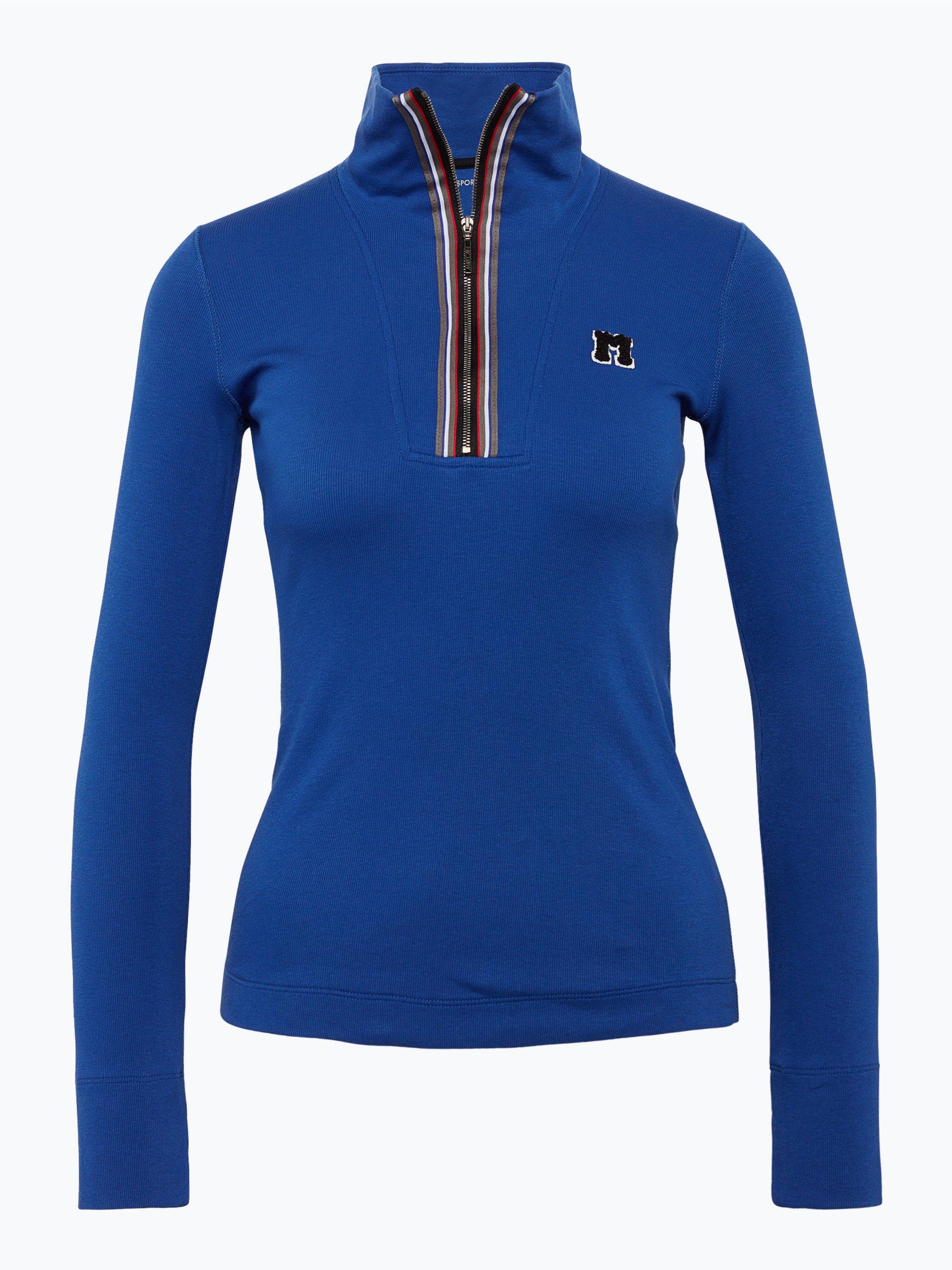 marc cain sports damen sportswear langarmshirt royal uni online kaufen peek und cloppenburg de. Black Bedroom Furniture Sets. Home Design Ideas