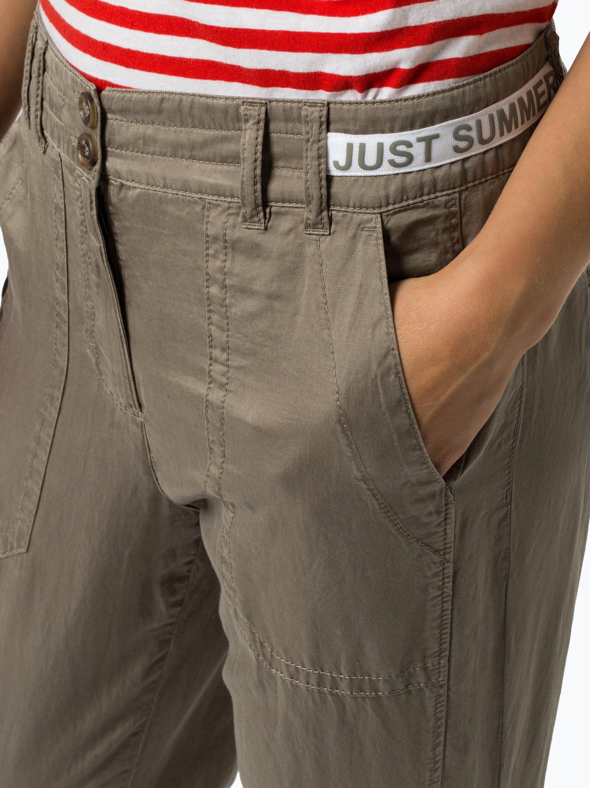Marc Cain Sports Spodnie damskie z dodatkiem jedwabiu