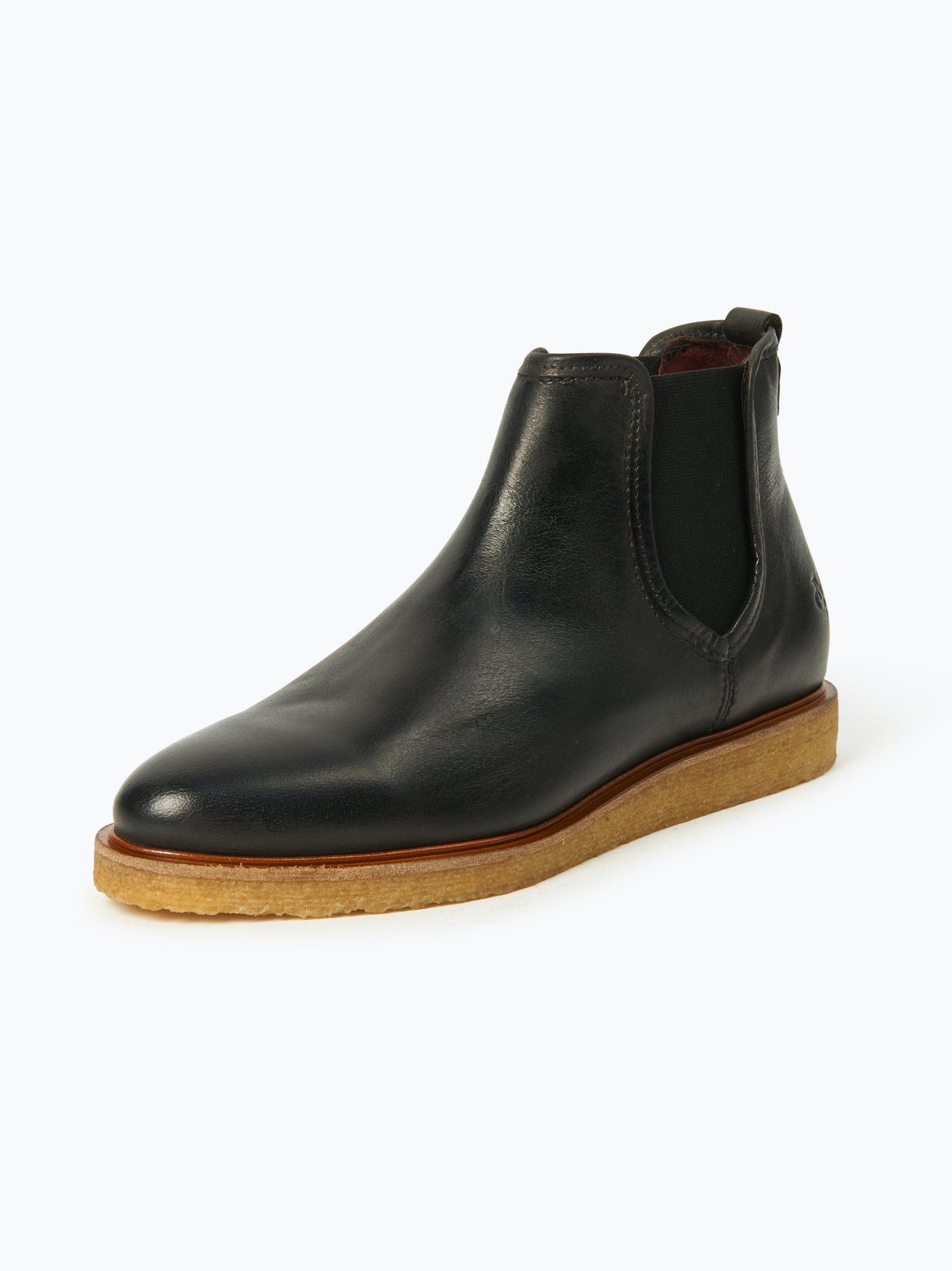 marc o 39 polo damen boots aus leder grau schwarz uni online. Black Bedroom Furniture Sets. Home Design Ideas