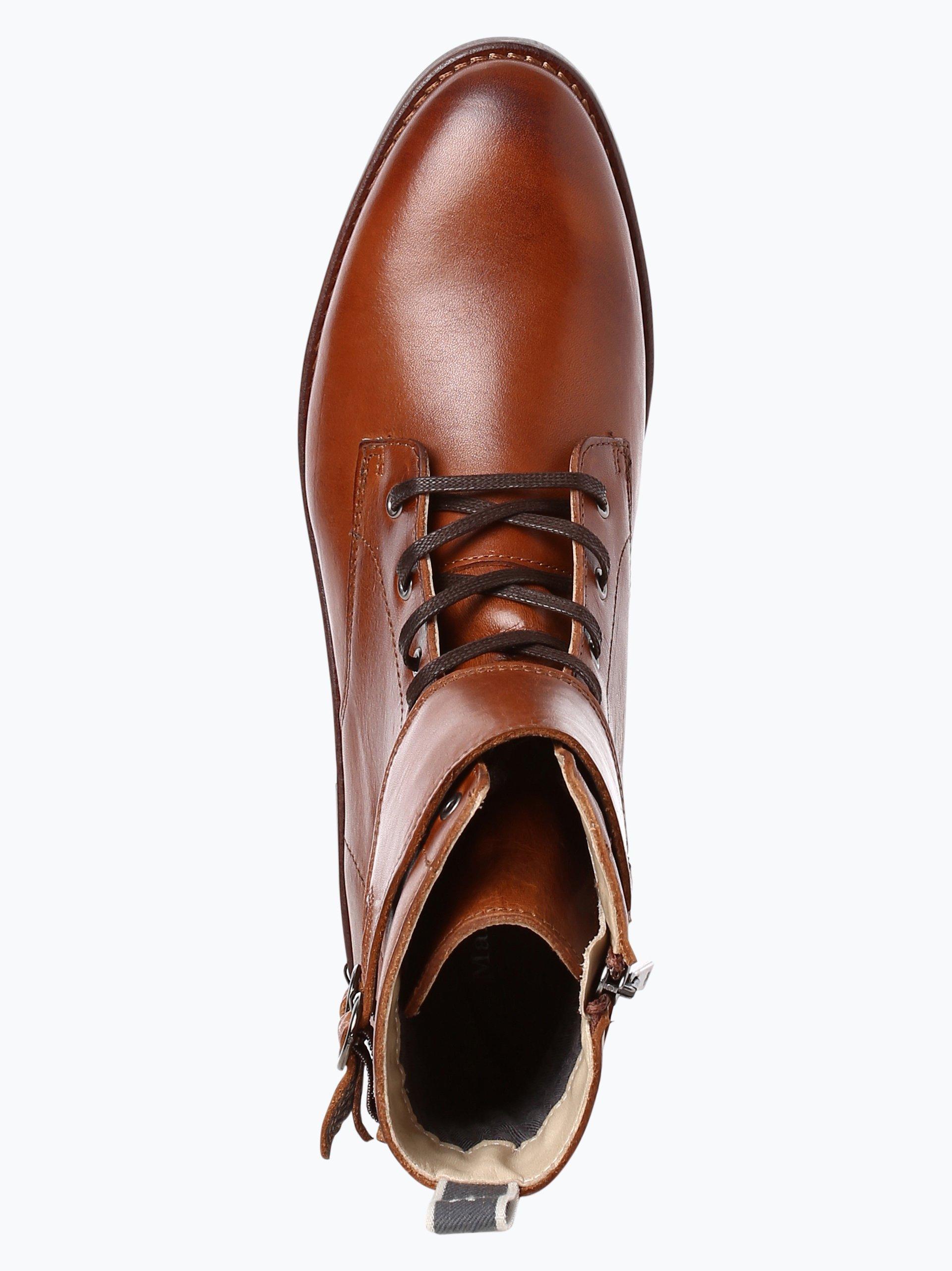 marc o 39 polo damen boots aus leder cognac uni online kaufen. Black Bedroom Furniture Sets. Home Design Ideas