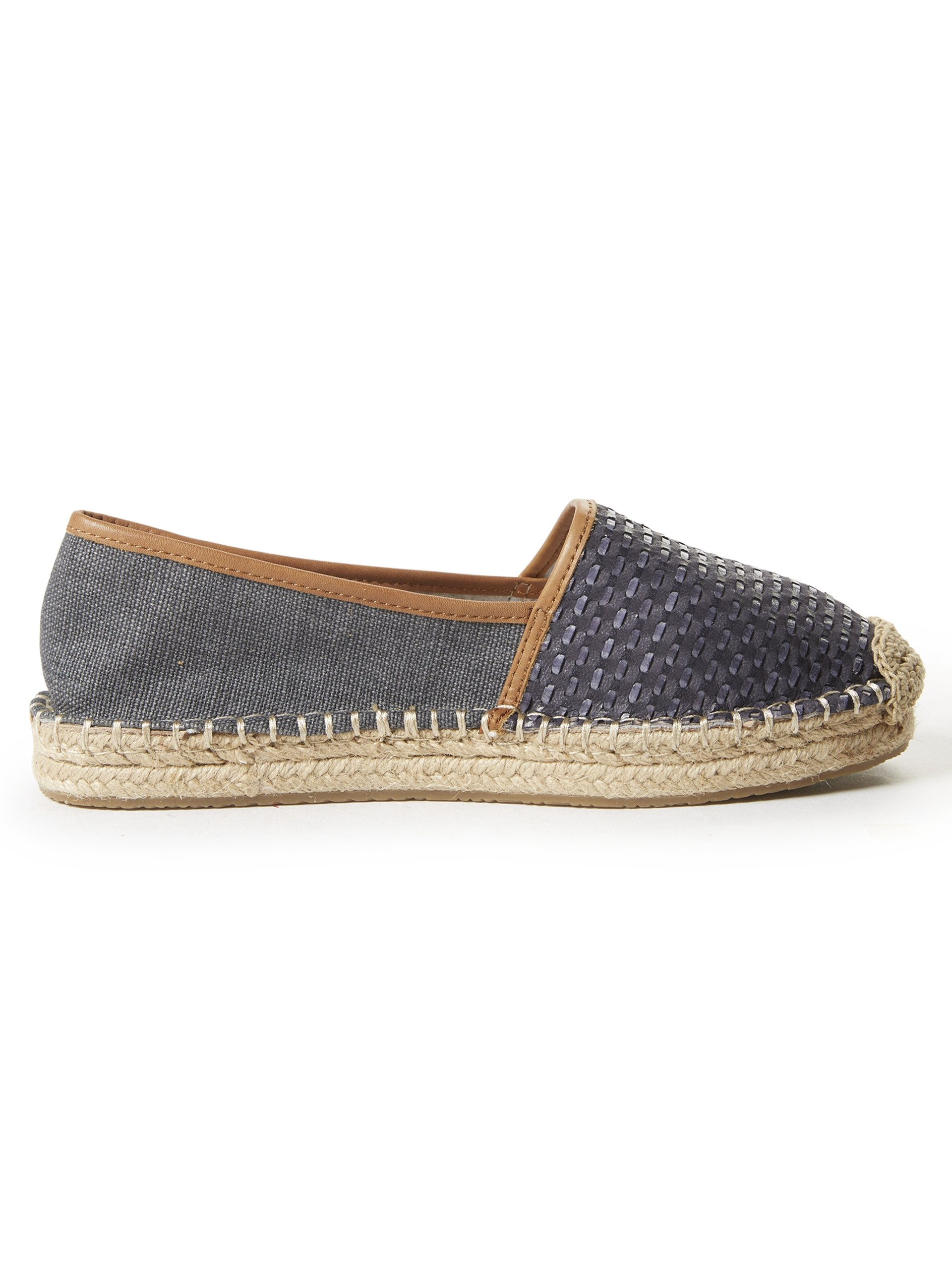 marc o 39 polo damen espadrilles mit leder anteil blau uni online kaufen peek und cloppenburg de. Black Bedroom Furniture Sets. Home Design Ideas