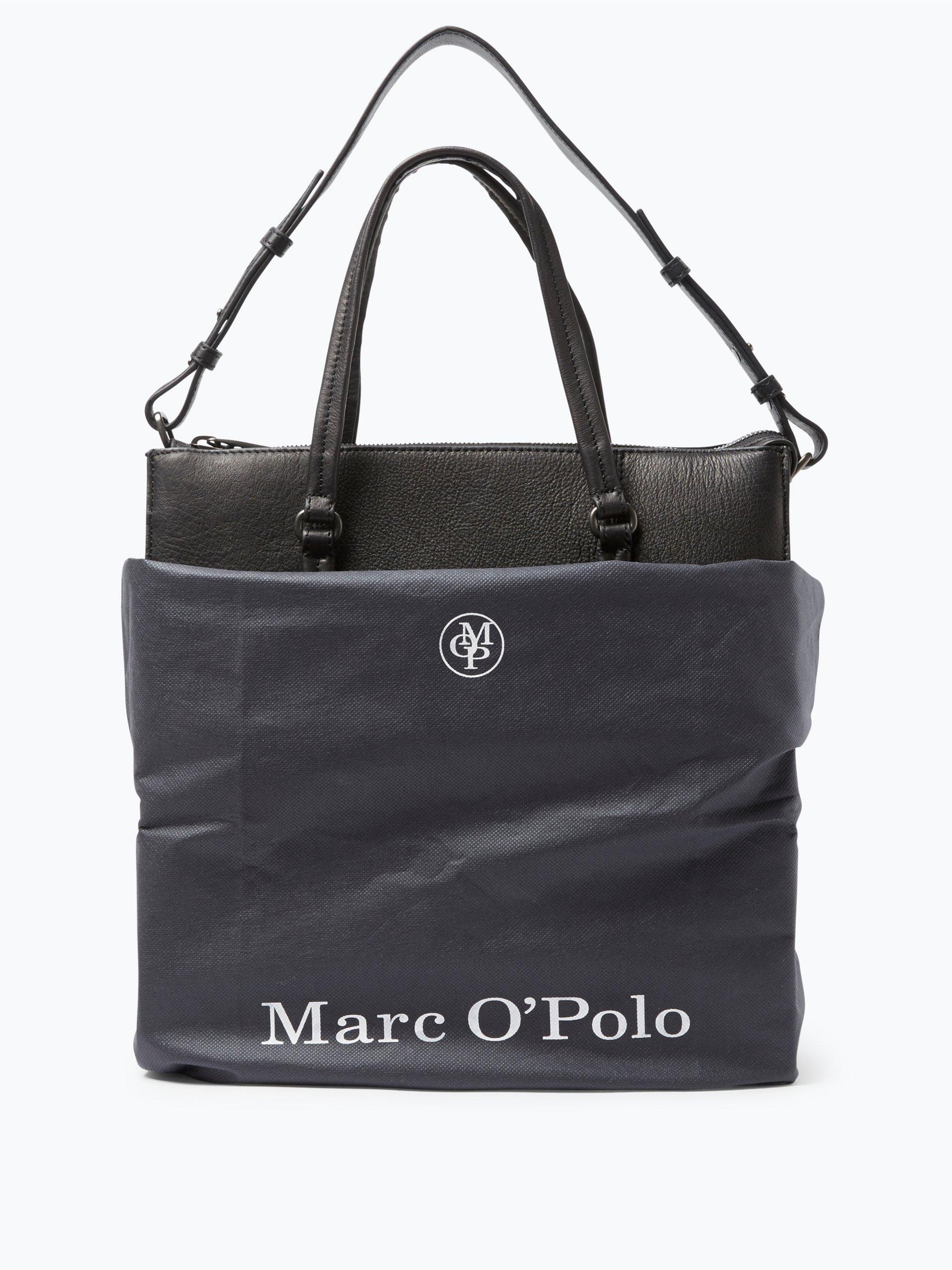 marc o 39 polo damen handtasche aus leder schwarz uni online. Black Bedroom Furniture Sets. Home Design Ideas