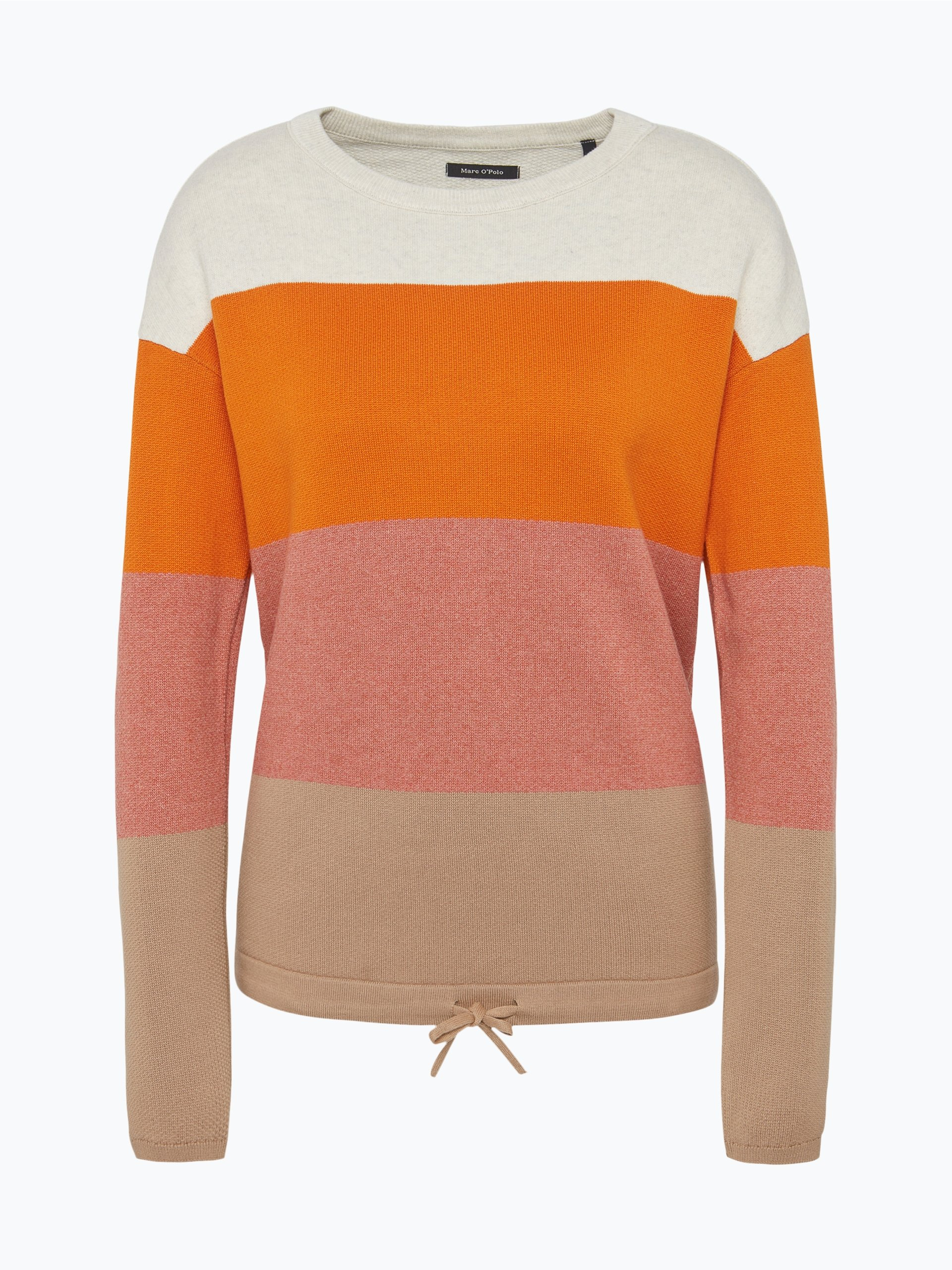 marc o 39 polo damen pullover orange gestreift online kaufen. Black Bedroom Furniture Sets. Home Design Ideas