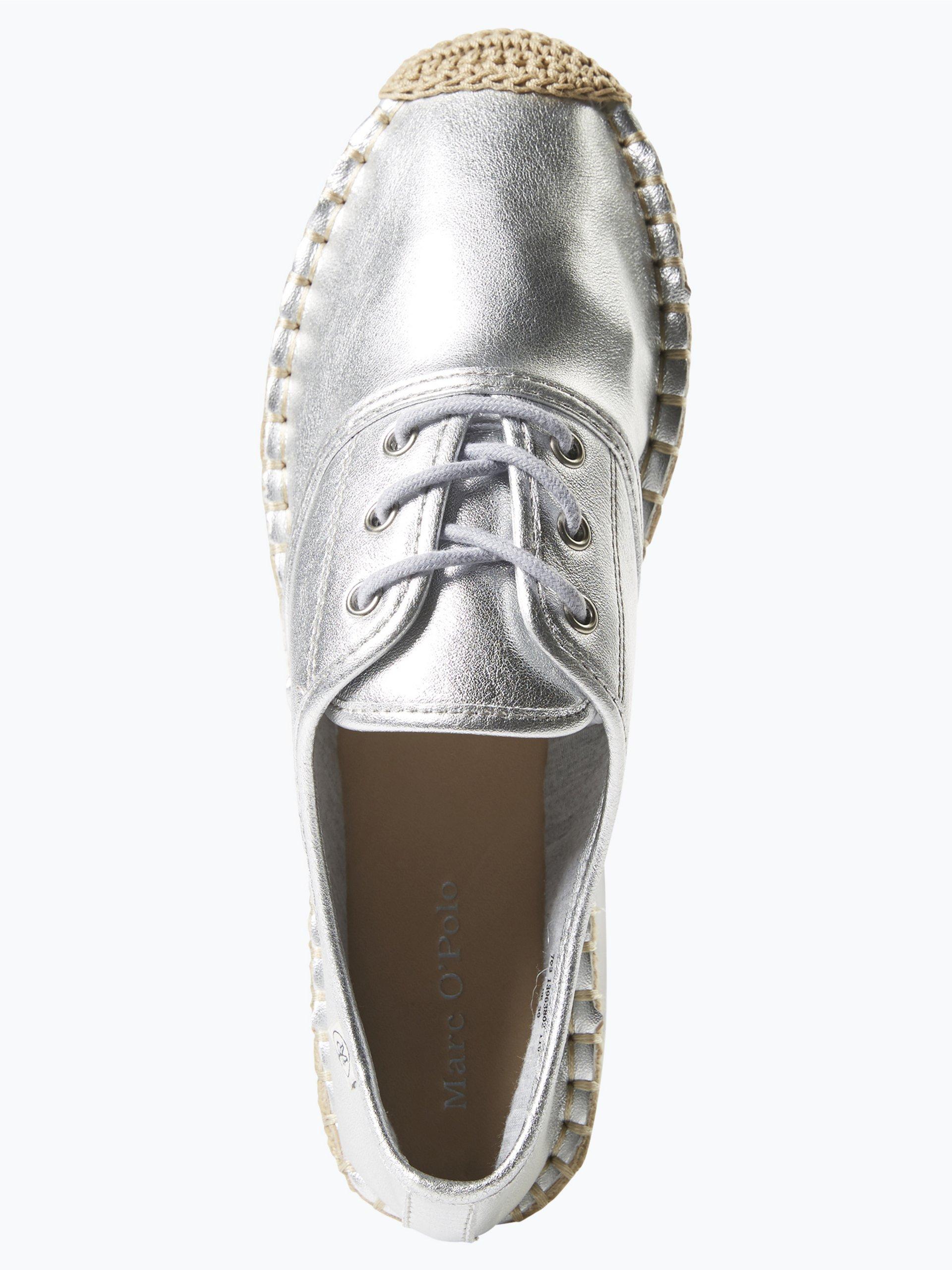 marc o 39 polo damen sneaker aus leder silber uni online kaufen vangraaf com. Black Bedroom Furniture Sets. Home Design Ideas