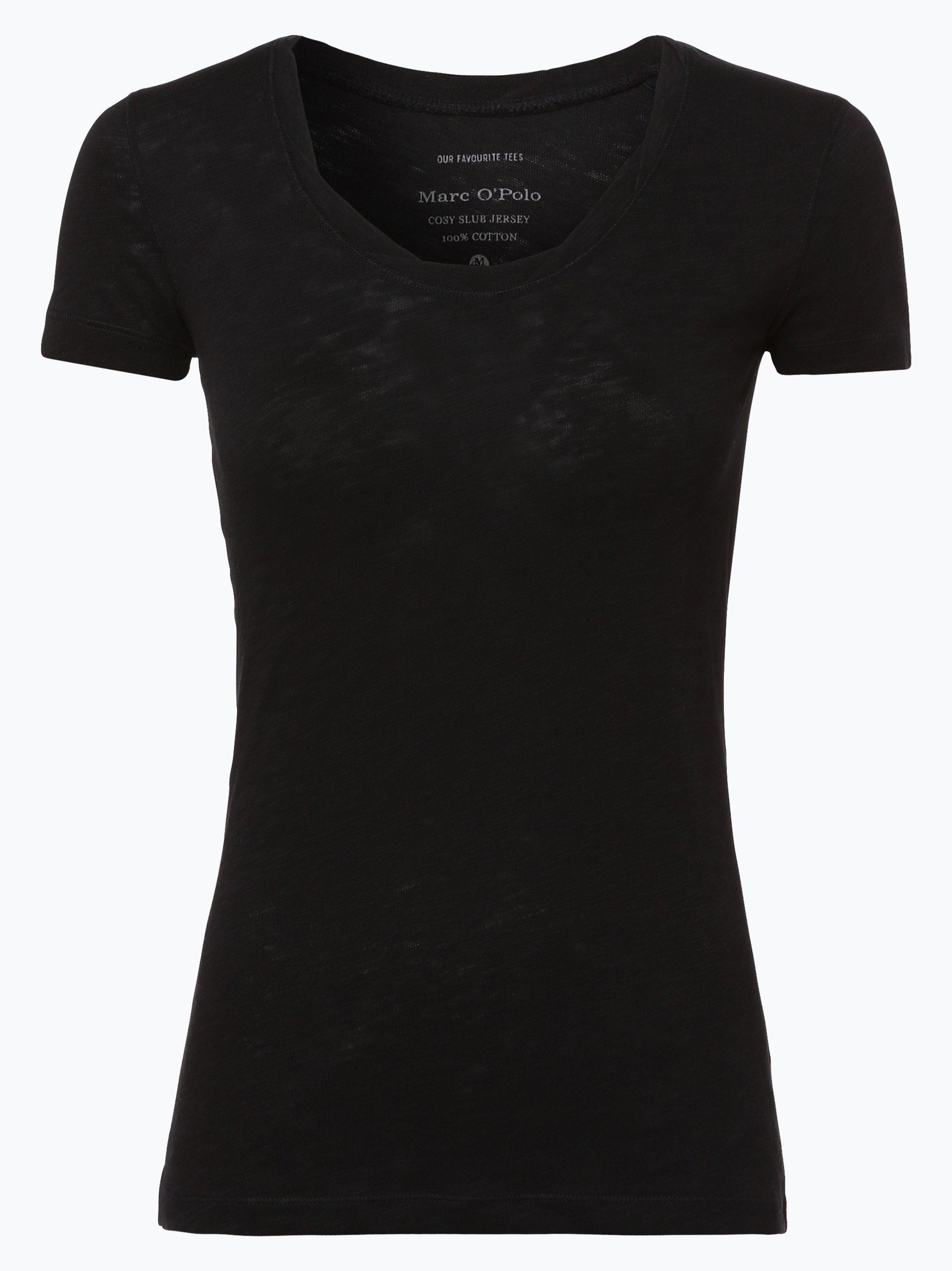 marc o 39 polo damen t shirt schwarz uni online kaufen peek. Black Bedroom Furniture Sets. Home Design Ideas