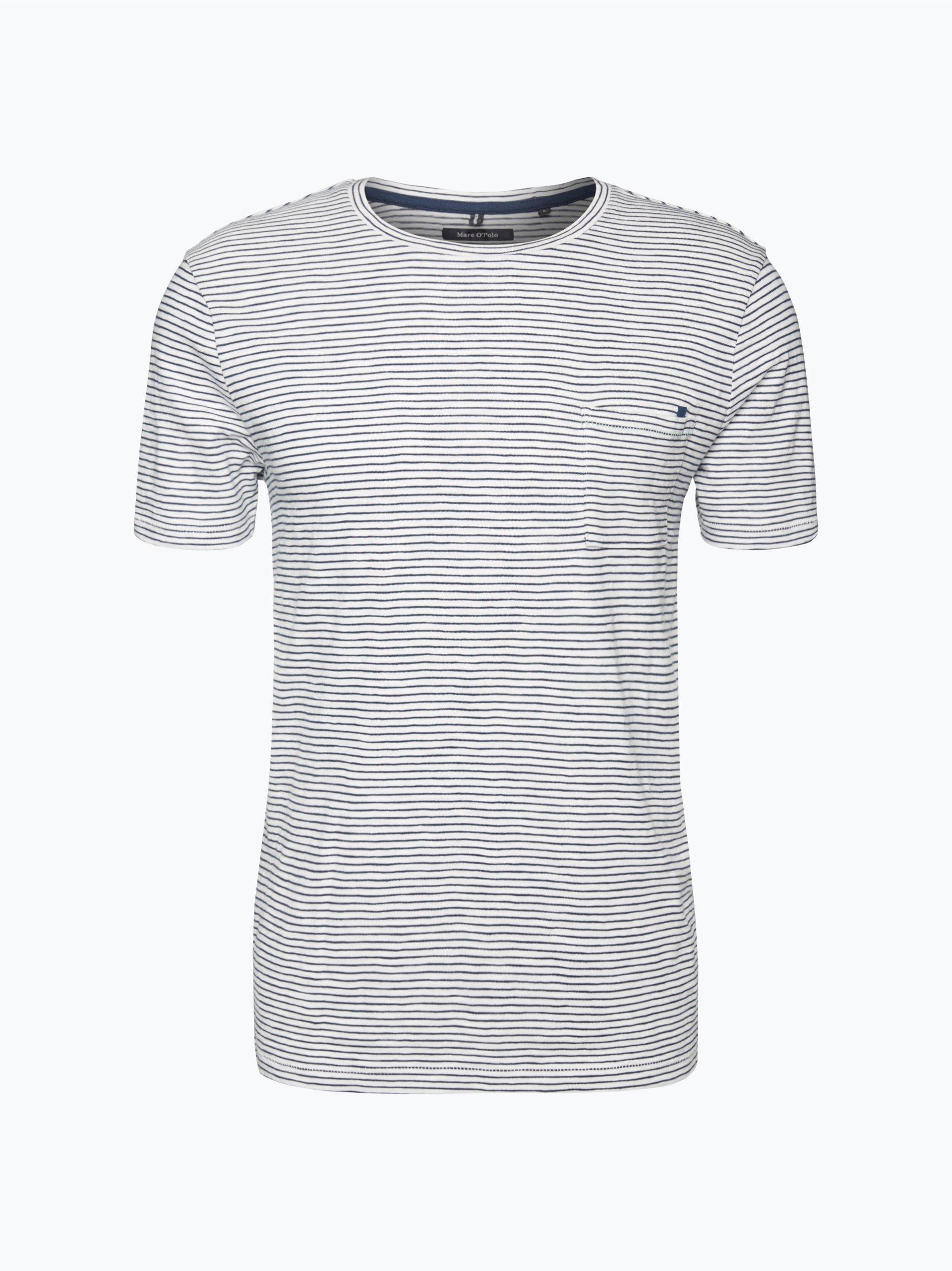 marc o 39 polo herren t shirt wei gestreift online kaufen. Black Bedroom Furniture Sets. Home Design Ideas