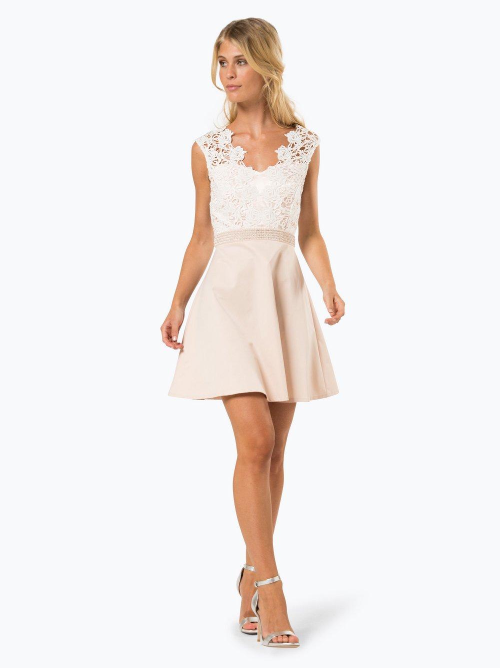 Marie Lund Damen Abendkleid nude weiß uni online kaufen | PEEK-UND ...