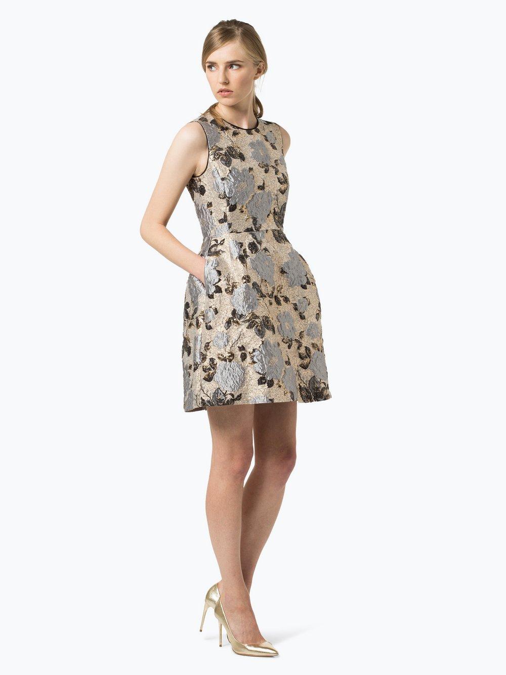 Marie Lund Damen Abendkleid gold hellblau gemustert online kaufen ...
