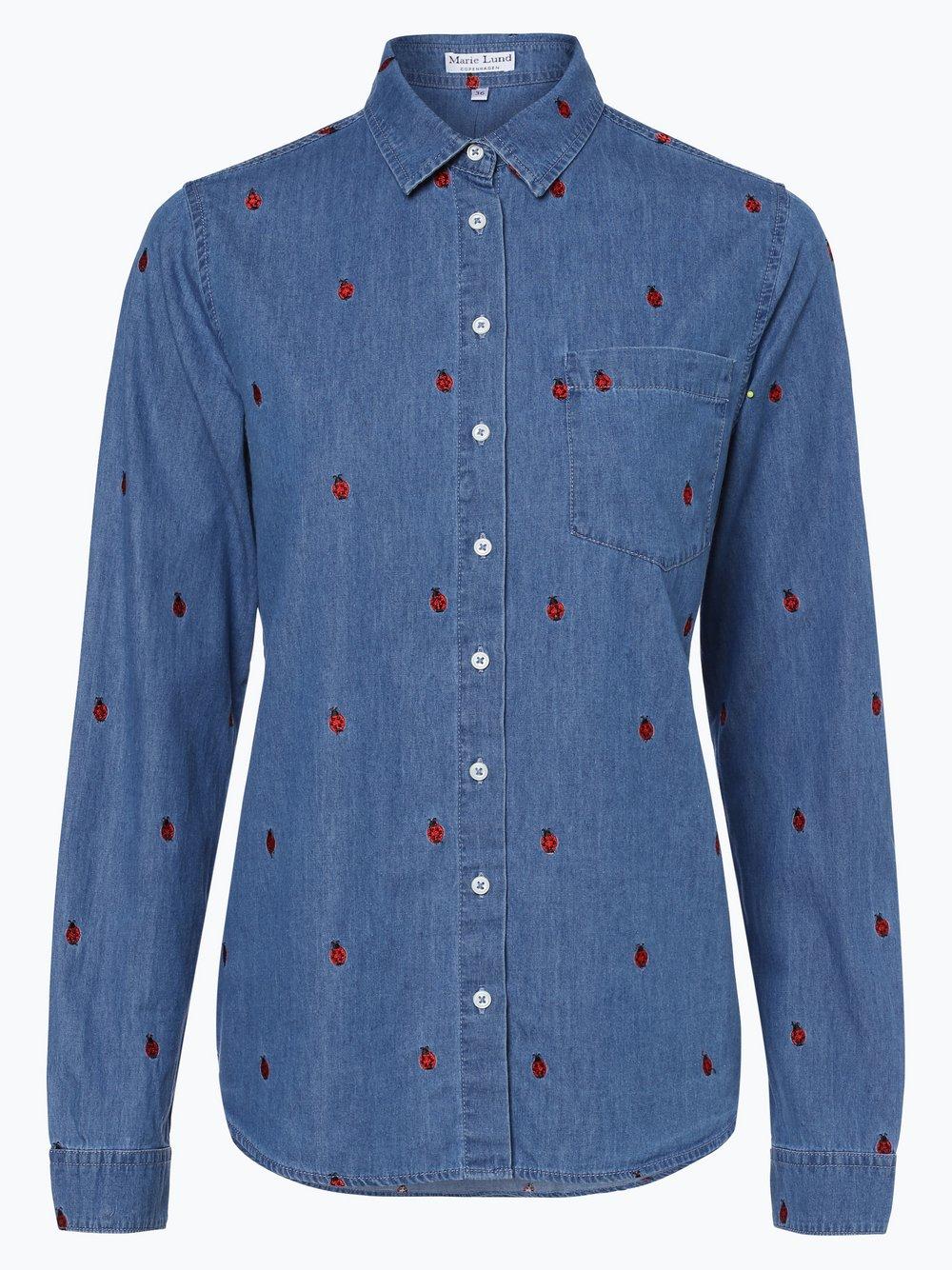 62989c4856e4 Marie Lund Damen Bluse blau rot gemustert online kaufen   PEEK-UND ...