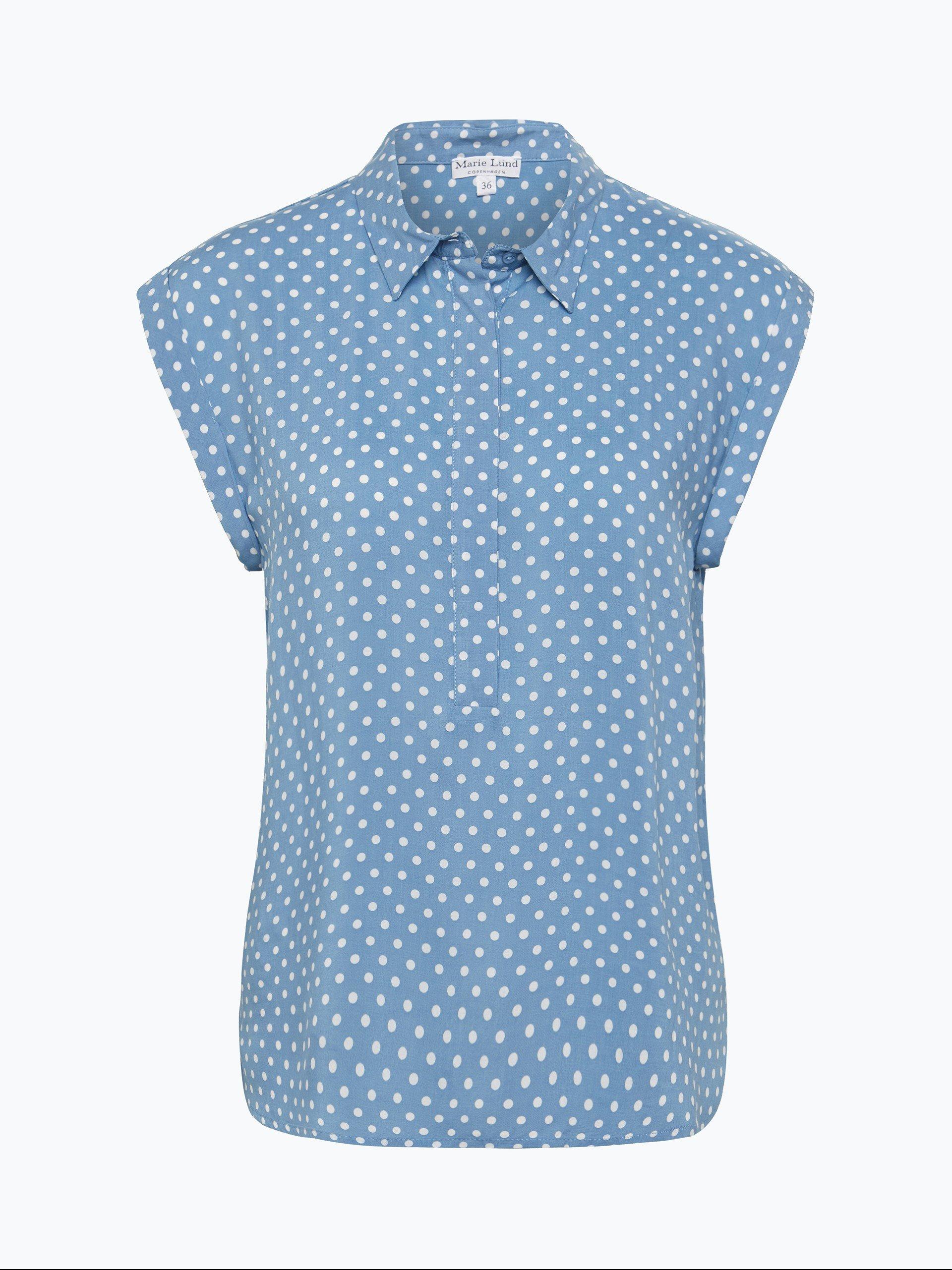 marie lund damen bluse blau gepunktet online kaufen peek und cloppenburg de. Black Bedroom Furniture Sets. Home Design Ideas