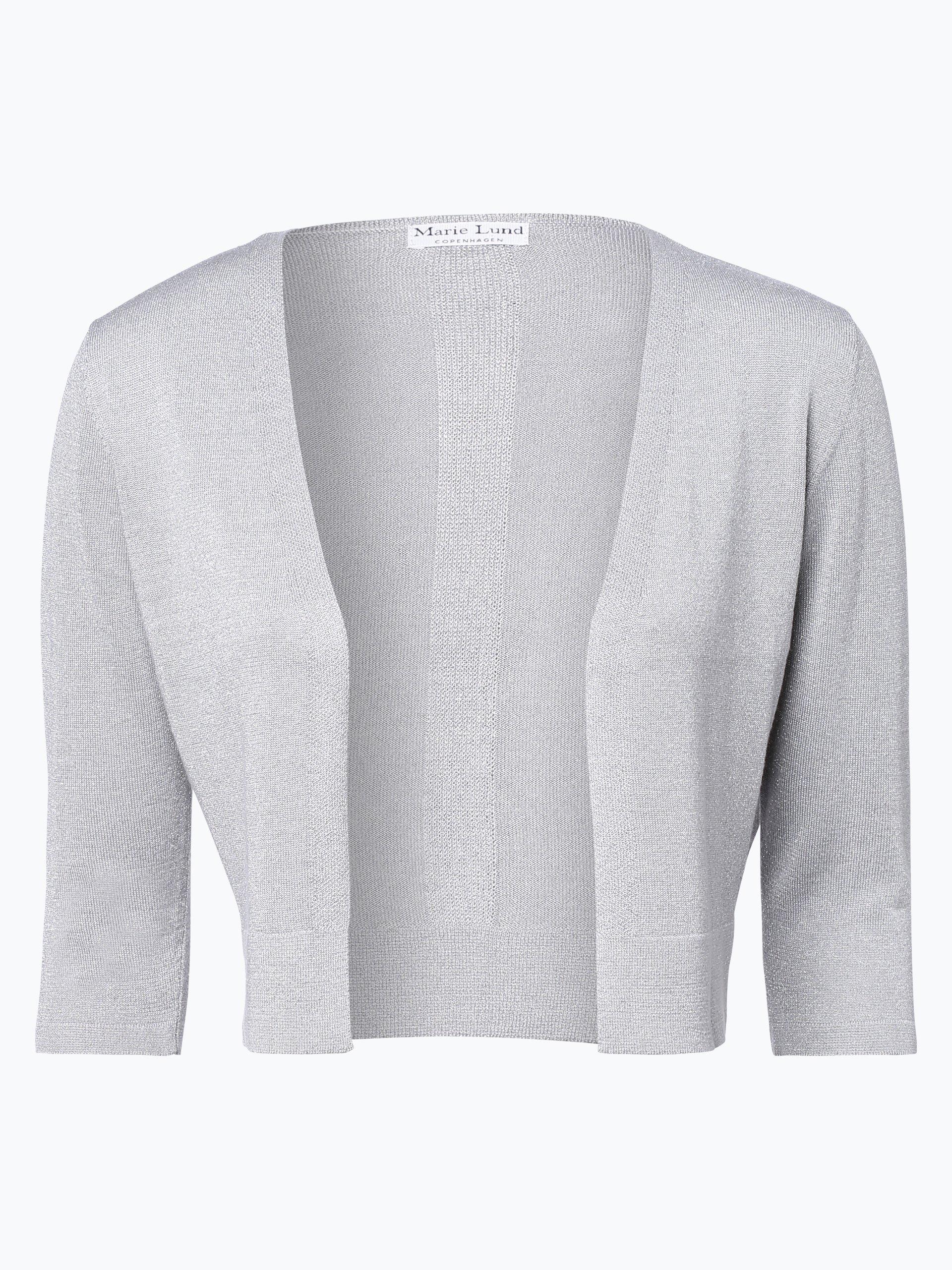 Marie lund damen bolero silber uni online kaufen peek for Garderobe bolero