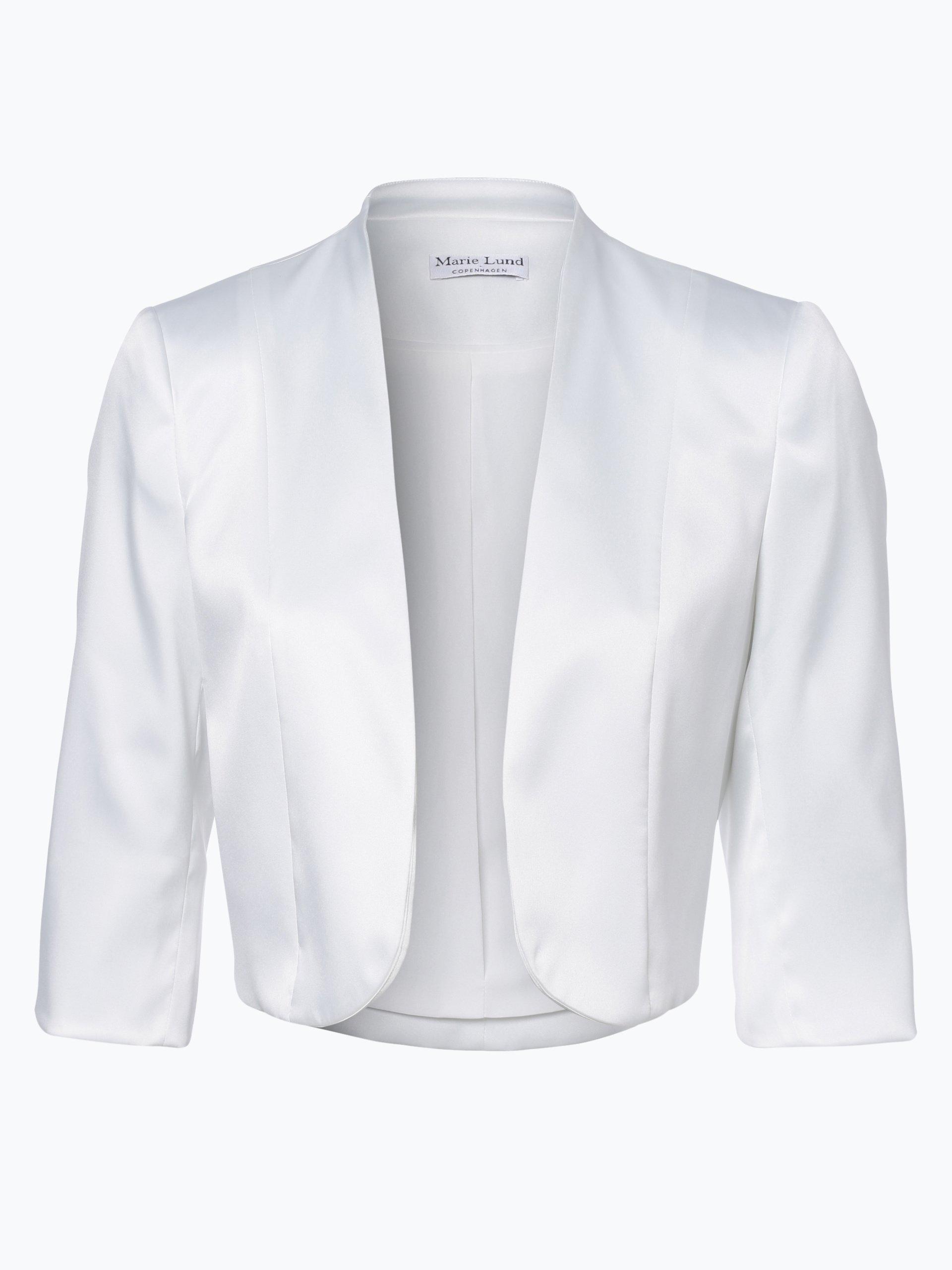 Marie lund damen bolero ecru uni online kaufen vangraaf com for Garderobe bolero
