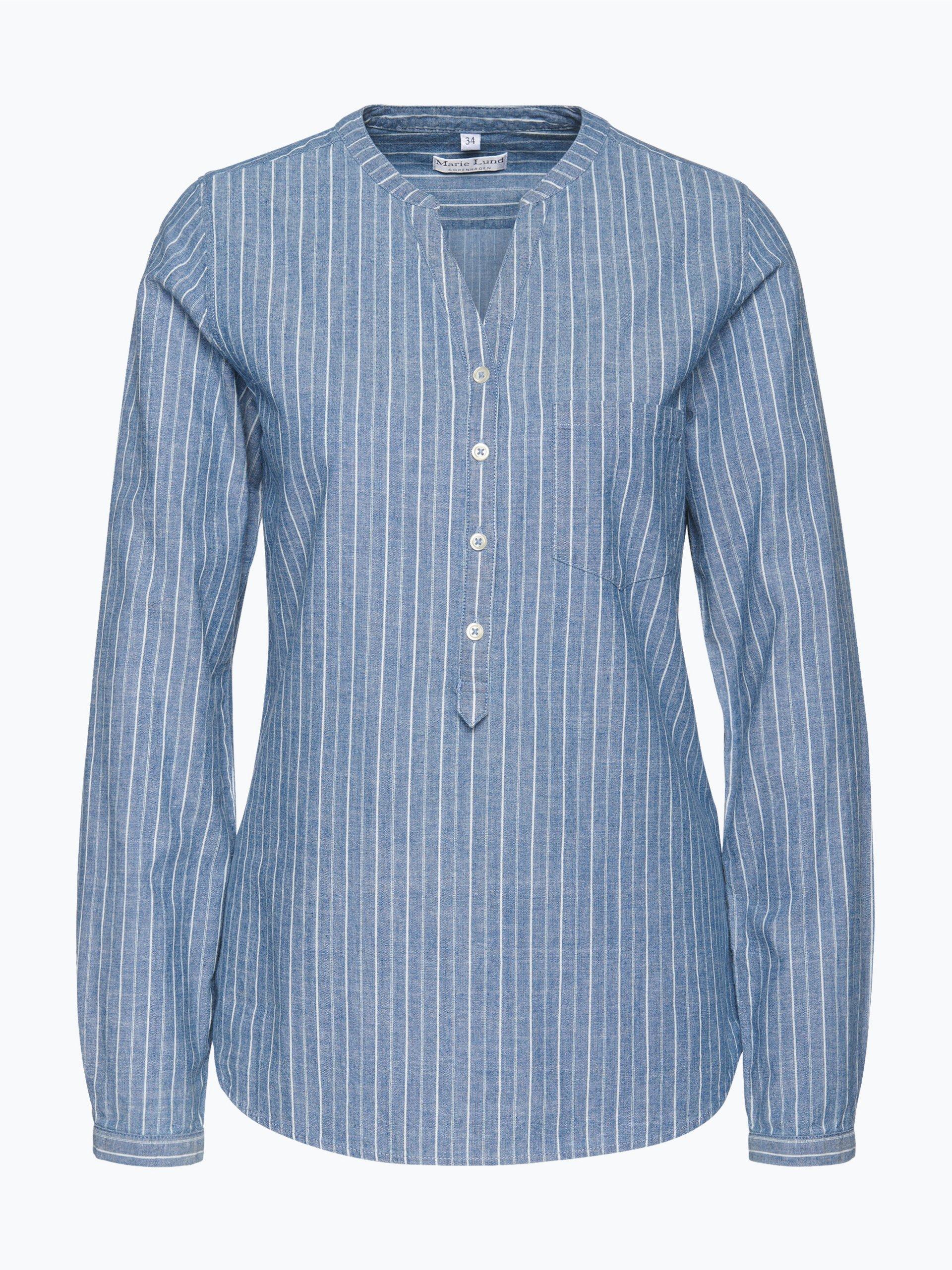marie lund damen jeansbluse blau gestreift online kaufen vangraaf com. Black Bedroom Furniture Sets. Home Design Ideas