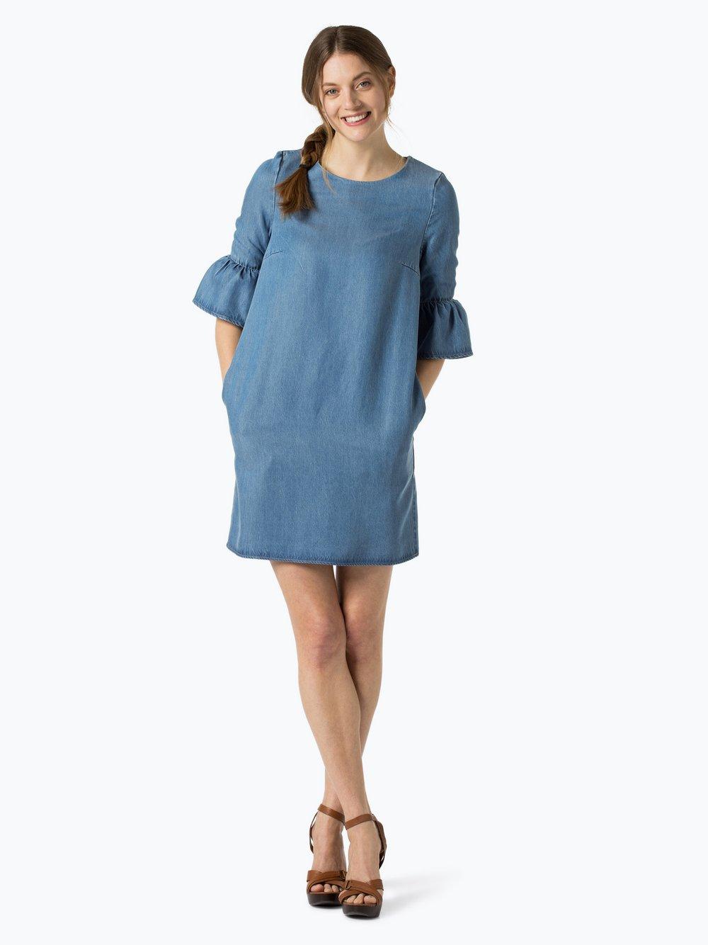 Marie lund kleid blau lang