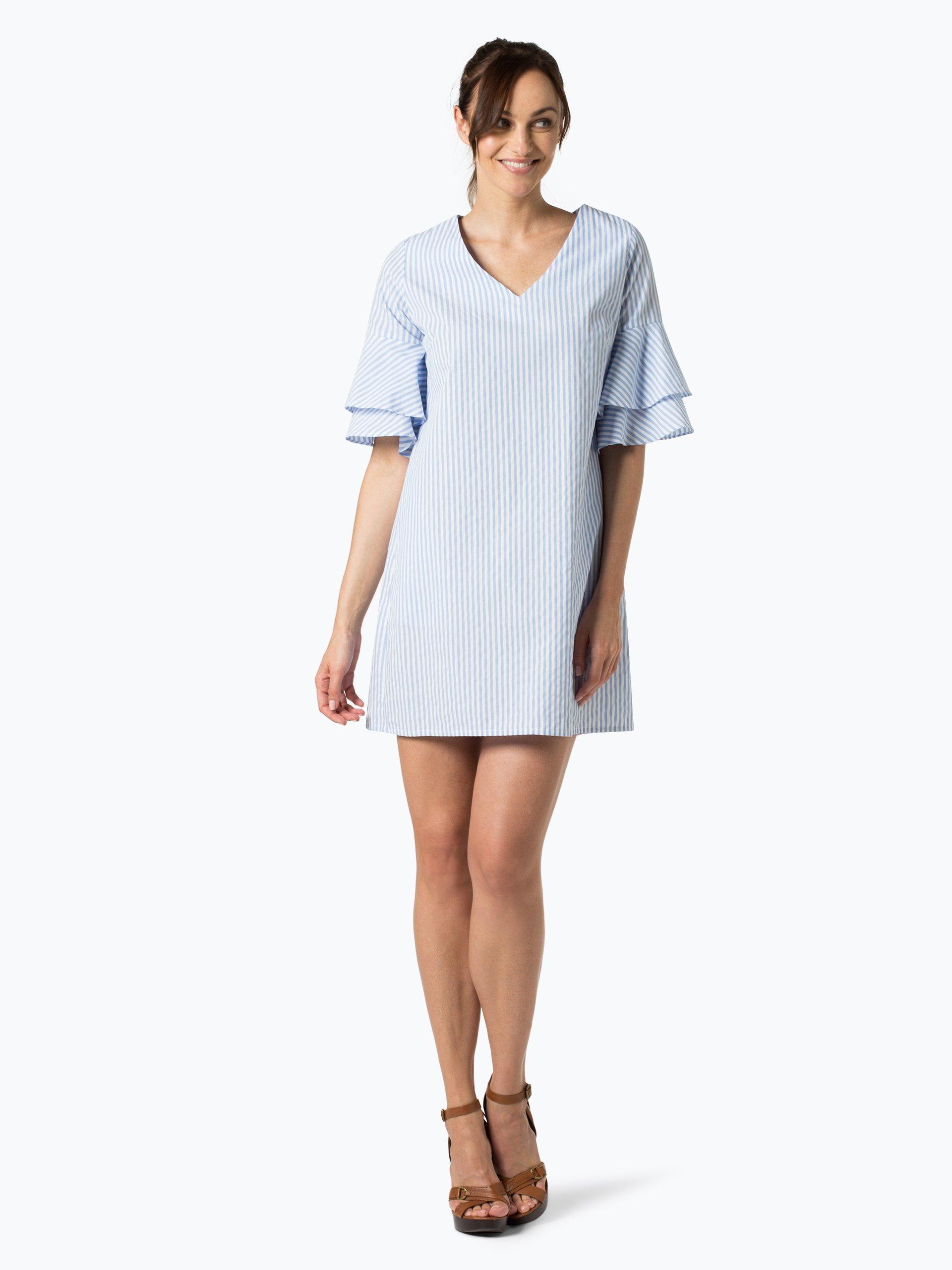 marie lund damen kleid hellblau gestreift online kaufen. Black Bedroom Furniture Sets. Home Design Ideas