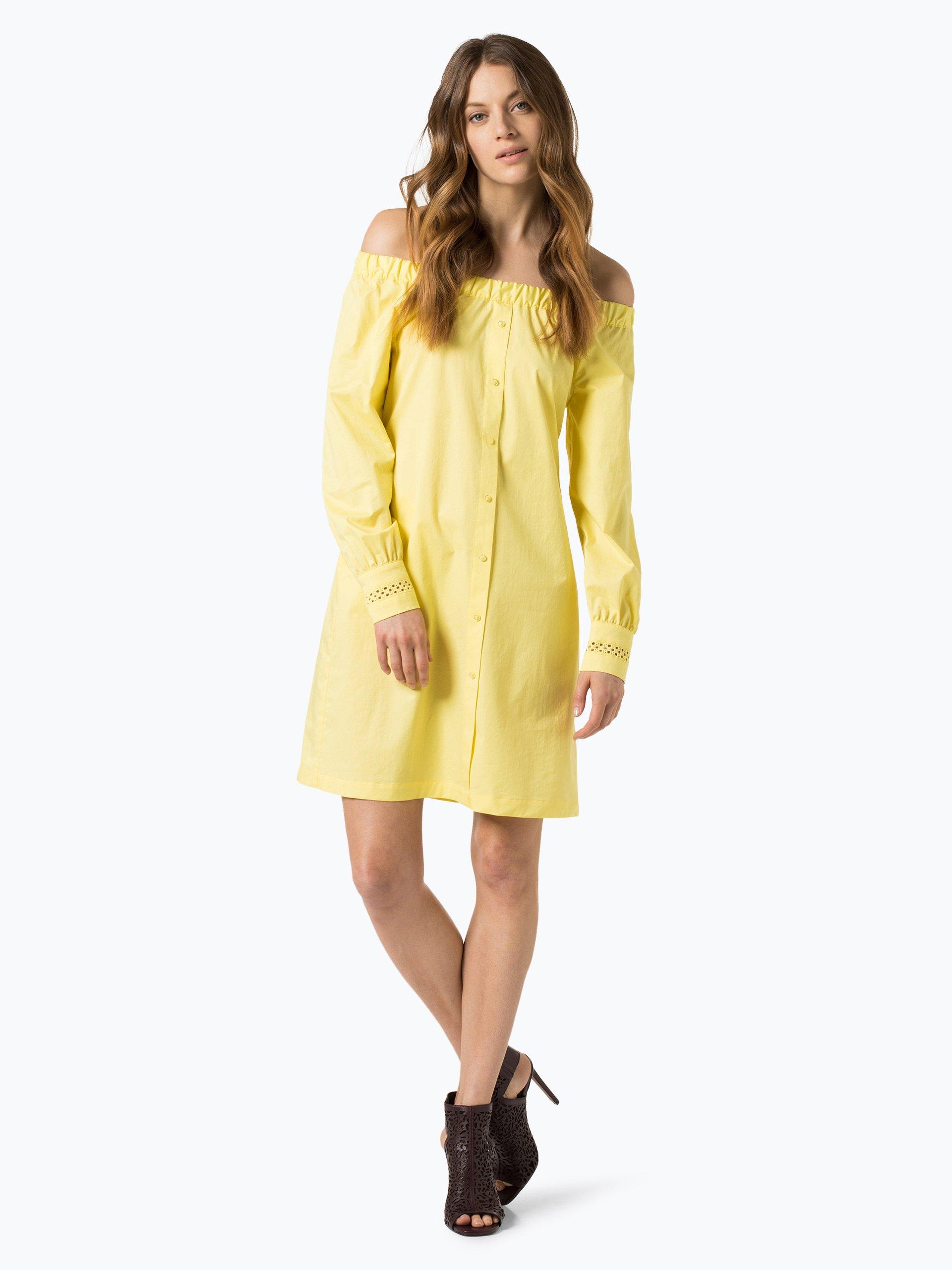 marie lund damen kleid gelb uni online kaufen vangraaf com. Black Bedroom Furniture Sets. Home Design Ideas