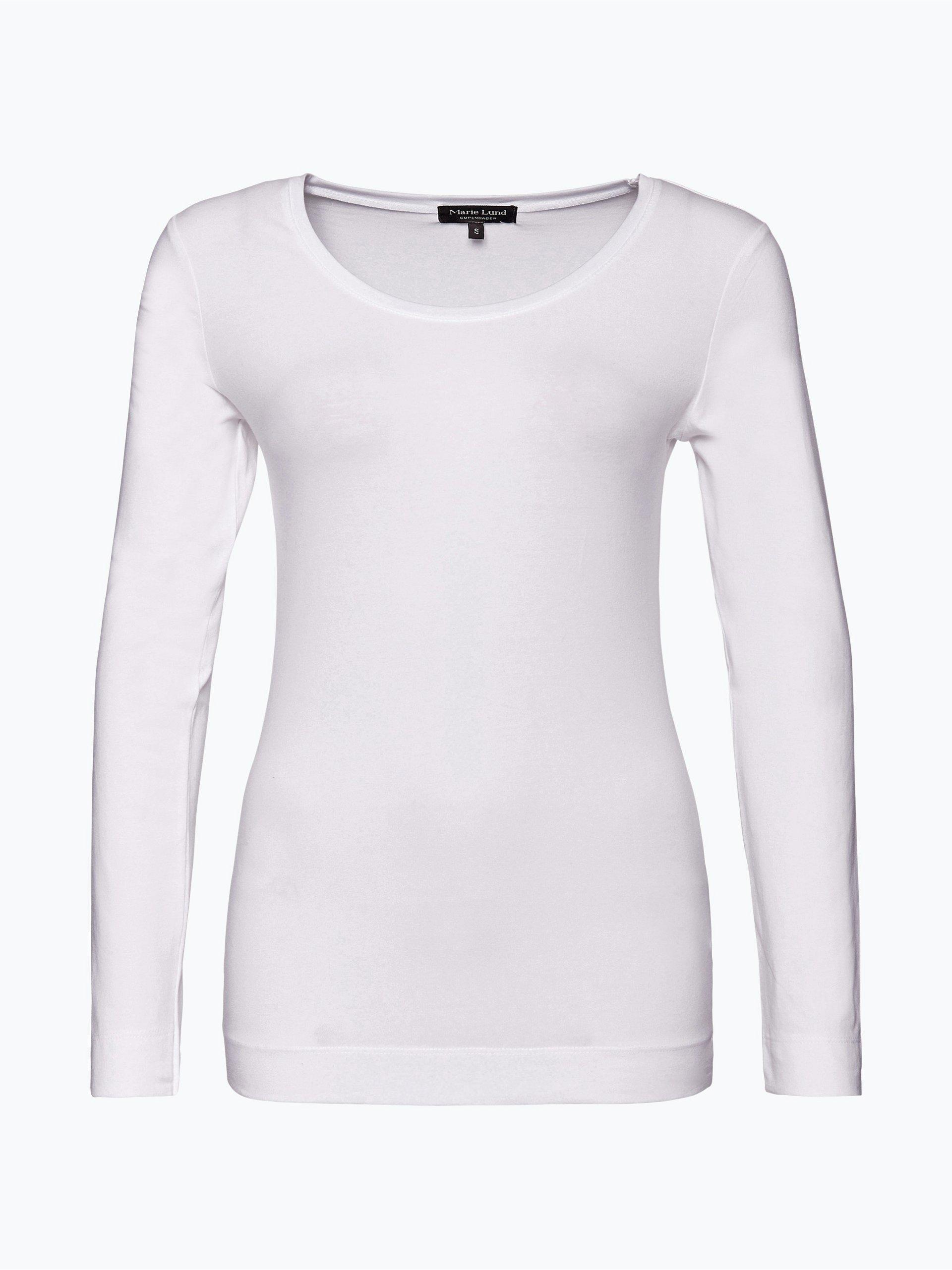 marie lund damen langarmshirt wei uni online kaufen peek und cloppenburg de. Black Bedroom Furniture Sets. Home Design Ideas