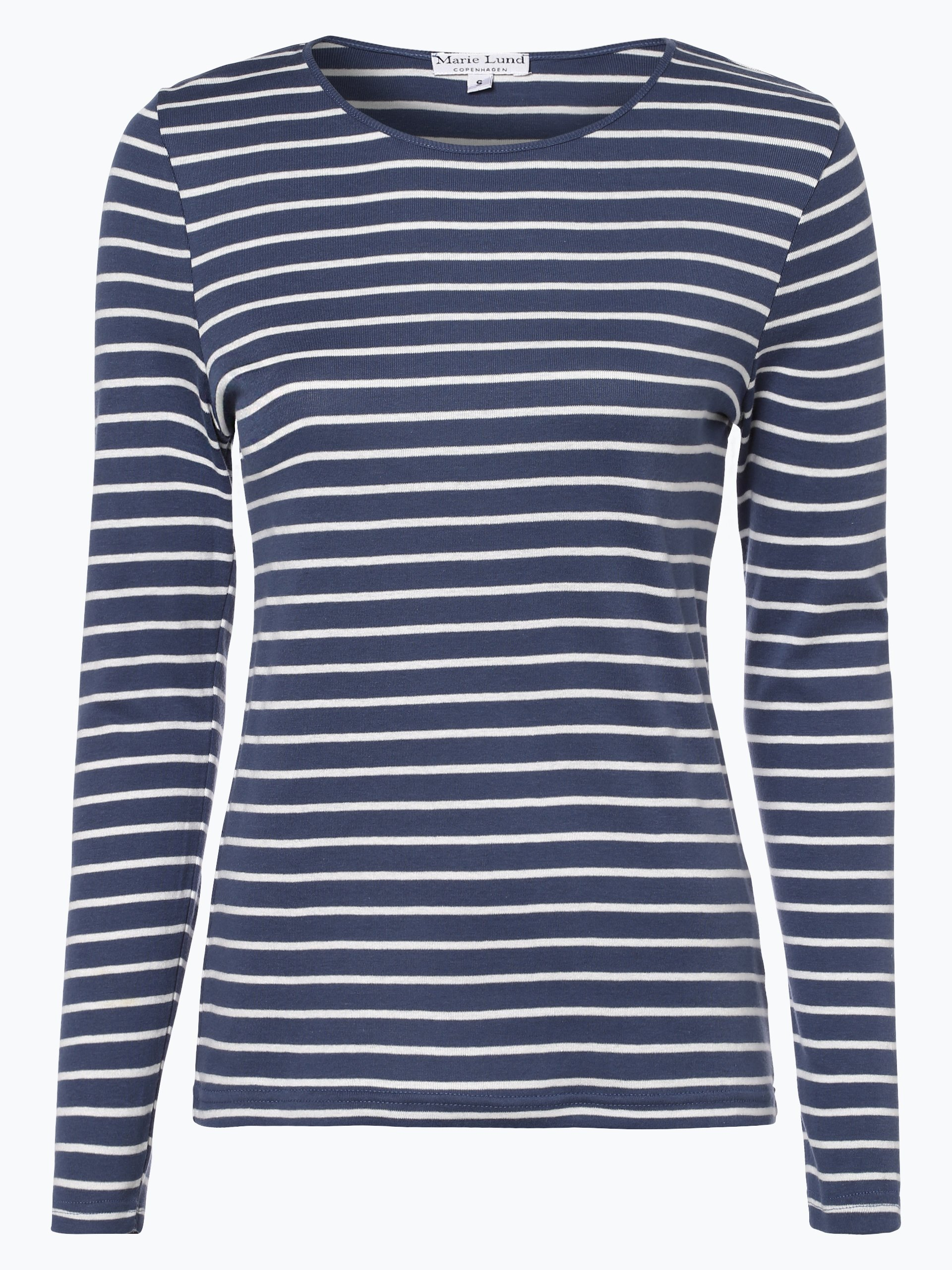 marie lund damen langarmshirt blau gestreift online kaufen vangraaf com. Black Bedroom Furniture Sets. Home Design Ideas