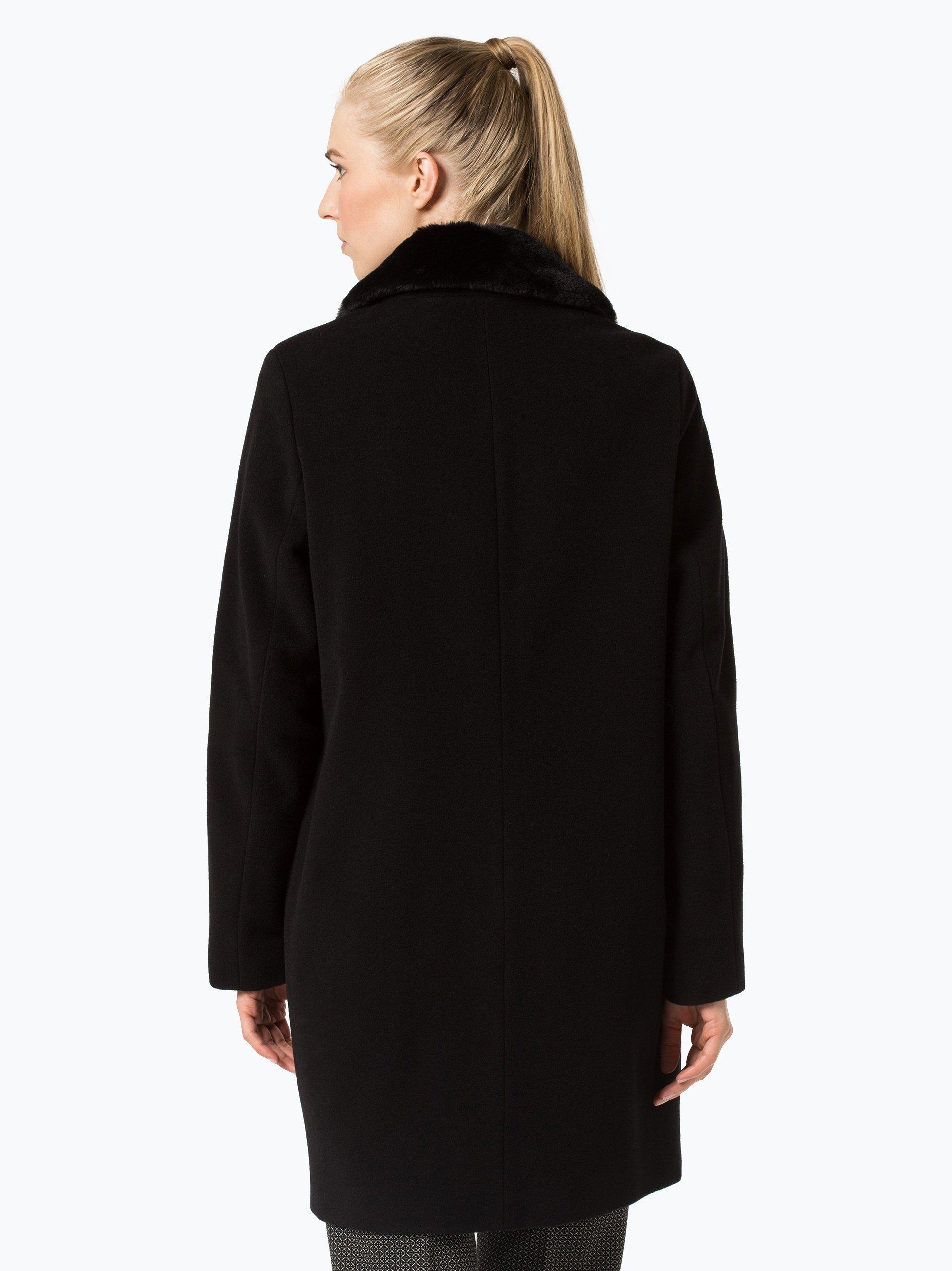 marie lund damen mantel mit cashmere anteil schwarz uni online kaufen vangraaf com. Black Bedroom Furniture Sets. Home Design Ideas