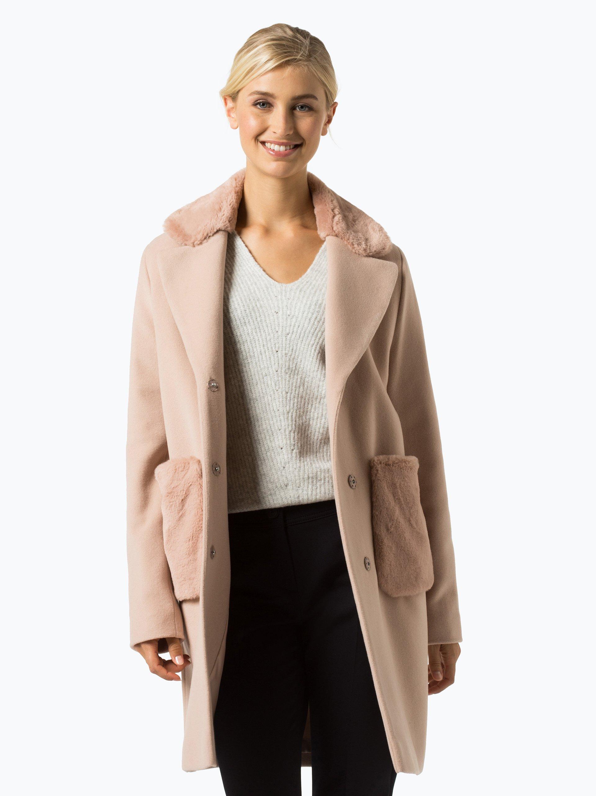 marie lund damen mantel mit cashmere anteil altrosa uni online kaufen vangraaf com. Black Bedroom Furniture Sets. Home Design Ideas