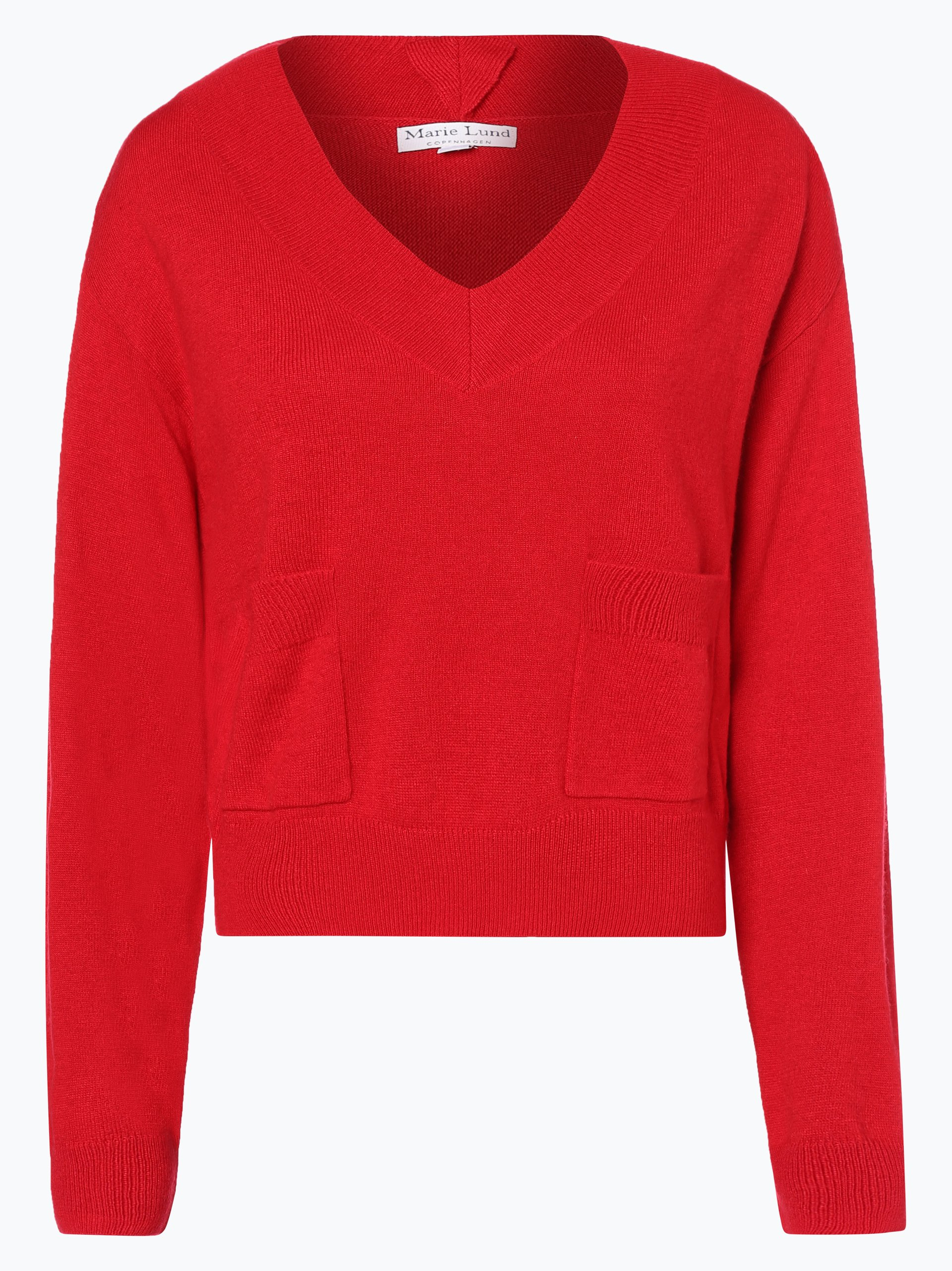 marie lund damen pullover mit cashmere anteil rot uni online kaufen vangraaf com. Black Bedroom Furniture Sets. Home Design Ideas