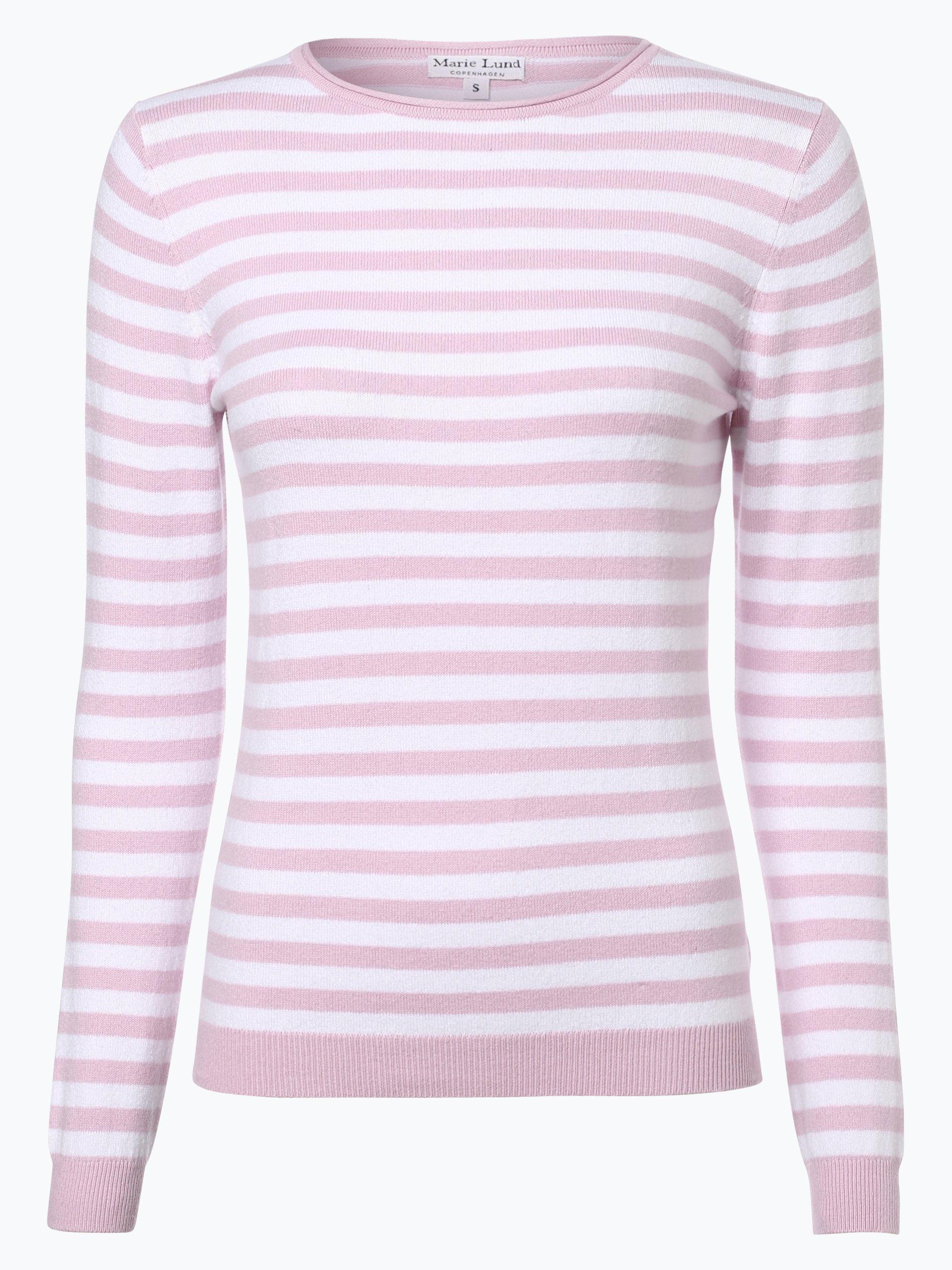 marie lund damen pullover mit cashmere anteil rosa gestreift online kaufen vangraaf com. Black Bedroom Furniture Sets. Home Design Ideas