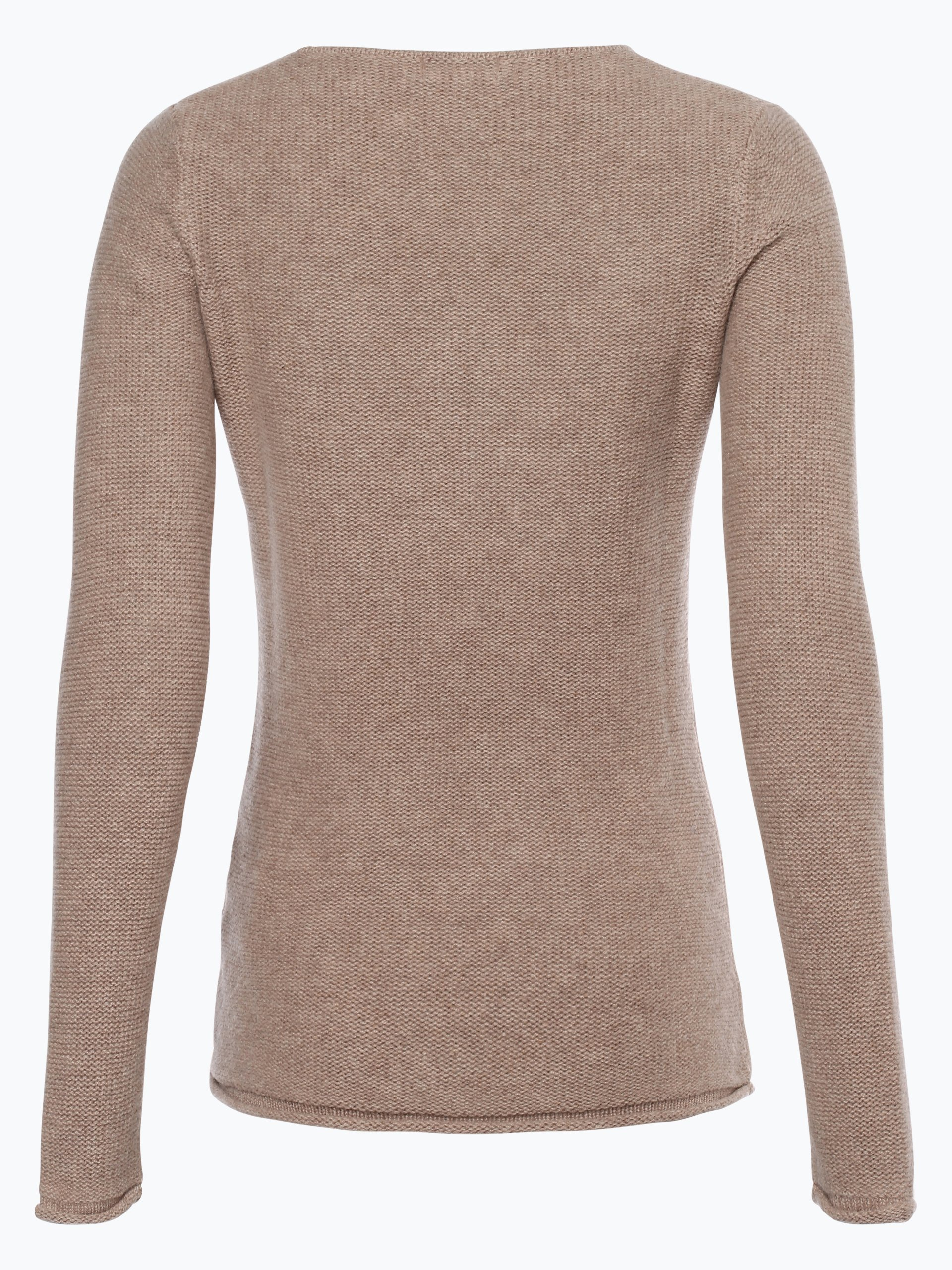 marie lund damen pure cashmere pullover taupe uni online. Black Bedroom Furniture Sets. Home Design Ideas
