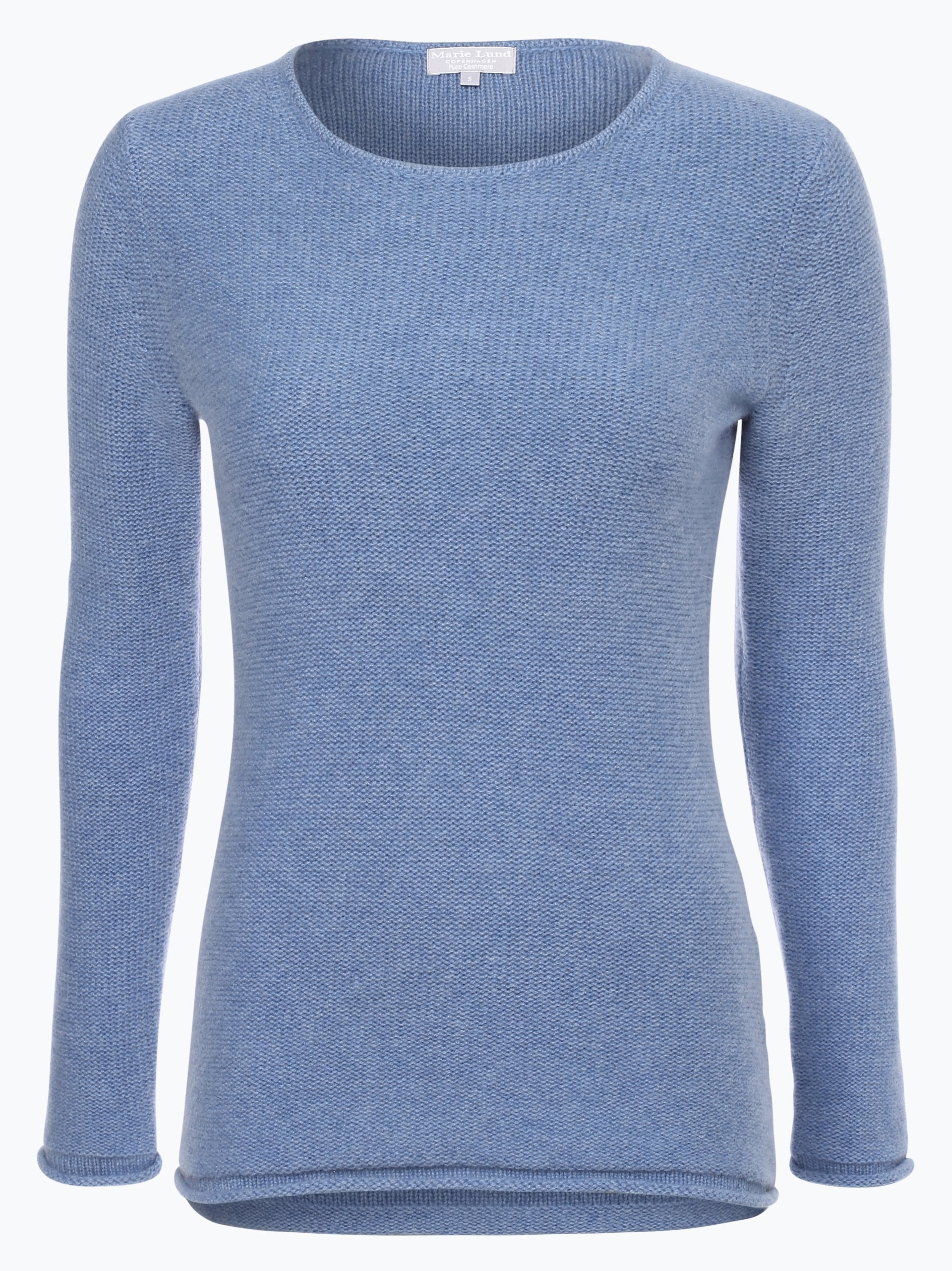 marie lund damen pure cashmere pullover blau uni online. Black Bedroom Furniture Sets. Home Design Ideas