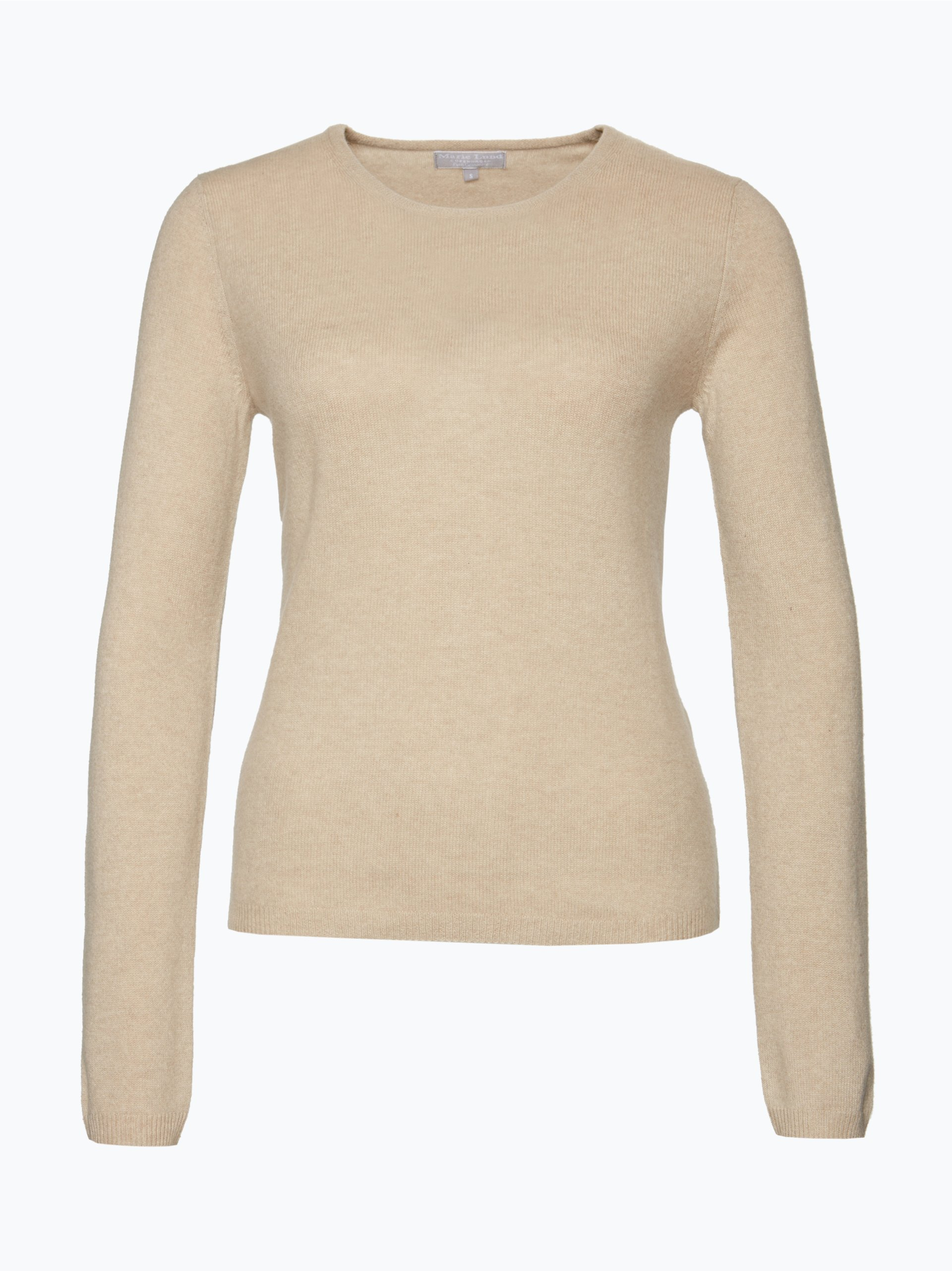 marie lund damen pure cashmere pullover taupe uni online kaufen vangraaf com. Black Bedroom Furniture Sets. Home Design Ideas