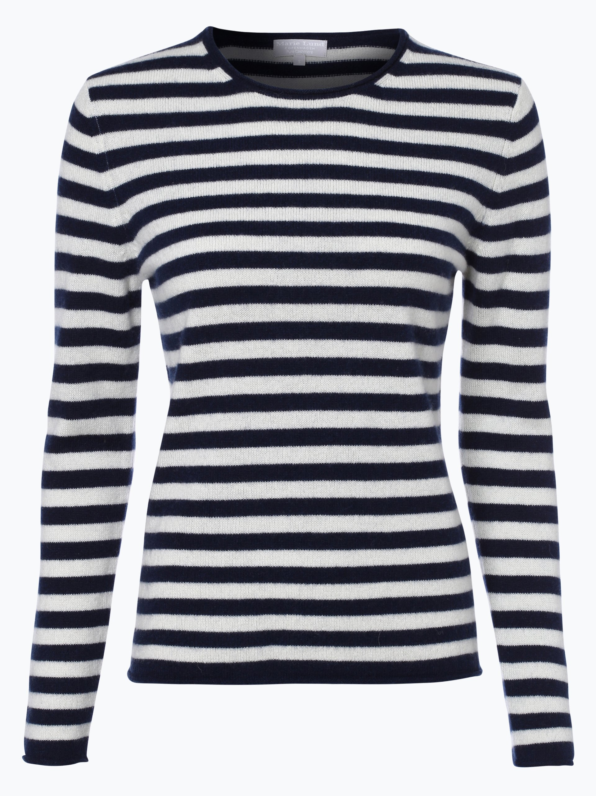 marie lund damen pure cashmere pullover marine gestreift online kaufen vangraaf com. Black Bedroom Furniture Sets. Home Design Ideas