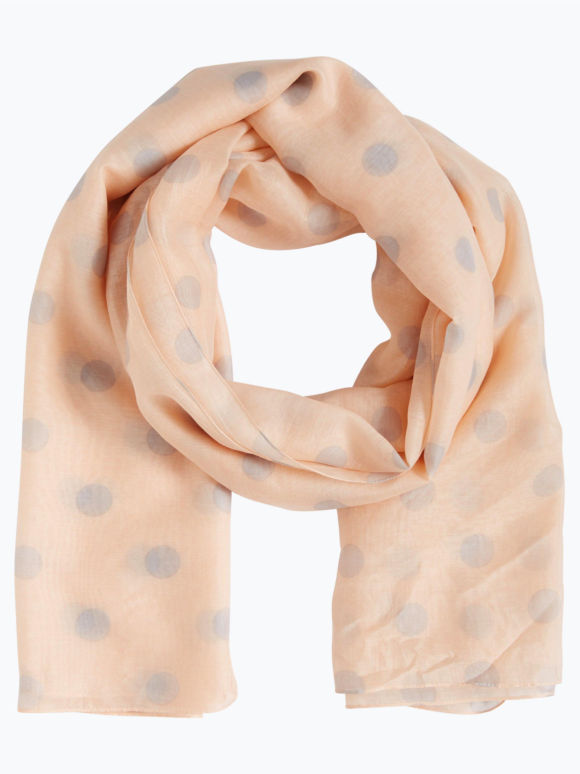 Marie lund damen schal rosa gepunktet online kaufen peek for Schal binden damen